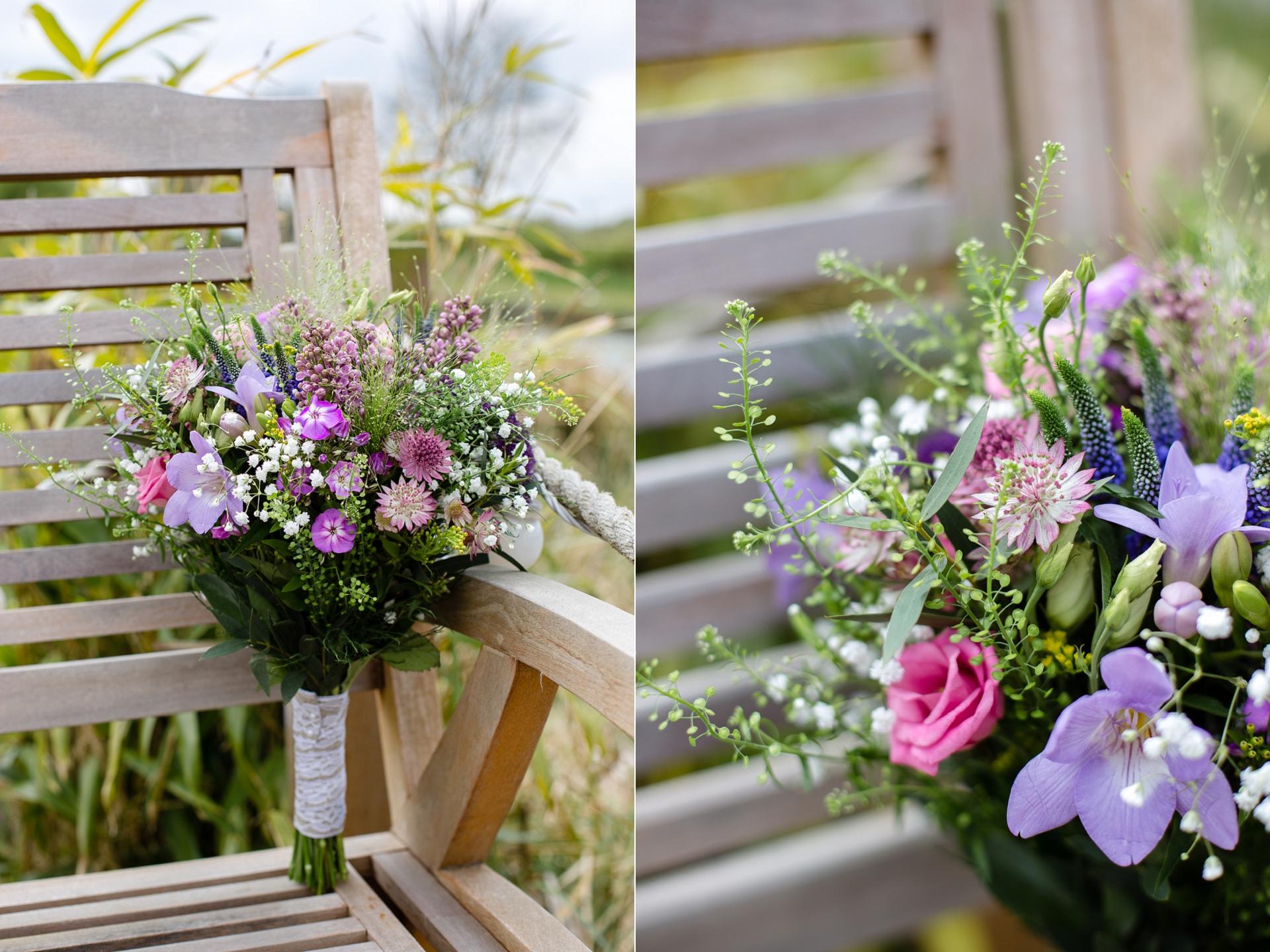 Rustic spring wedding flower