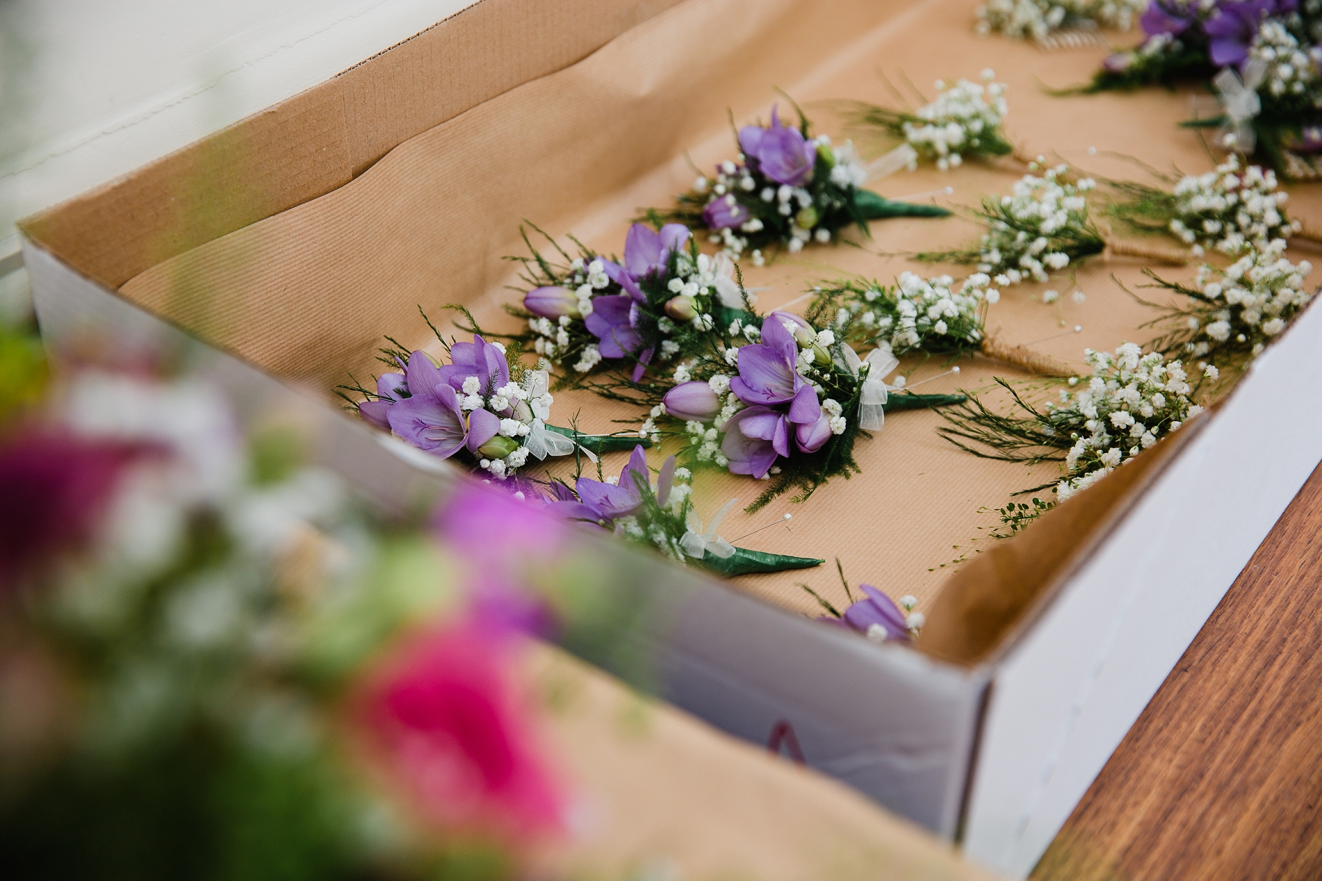 Rustic spring wedding flower