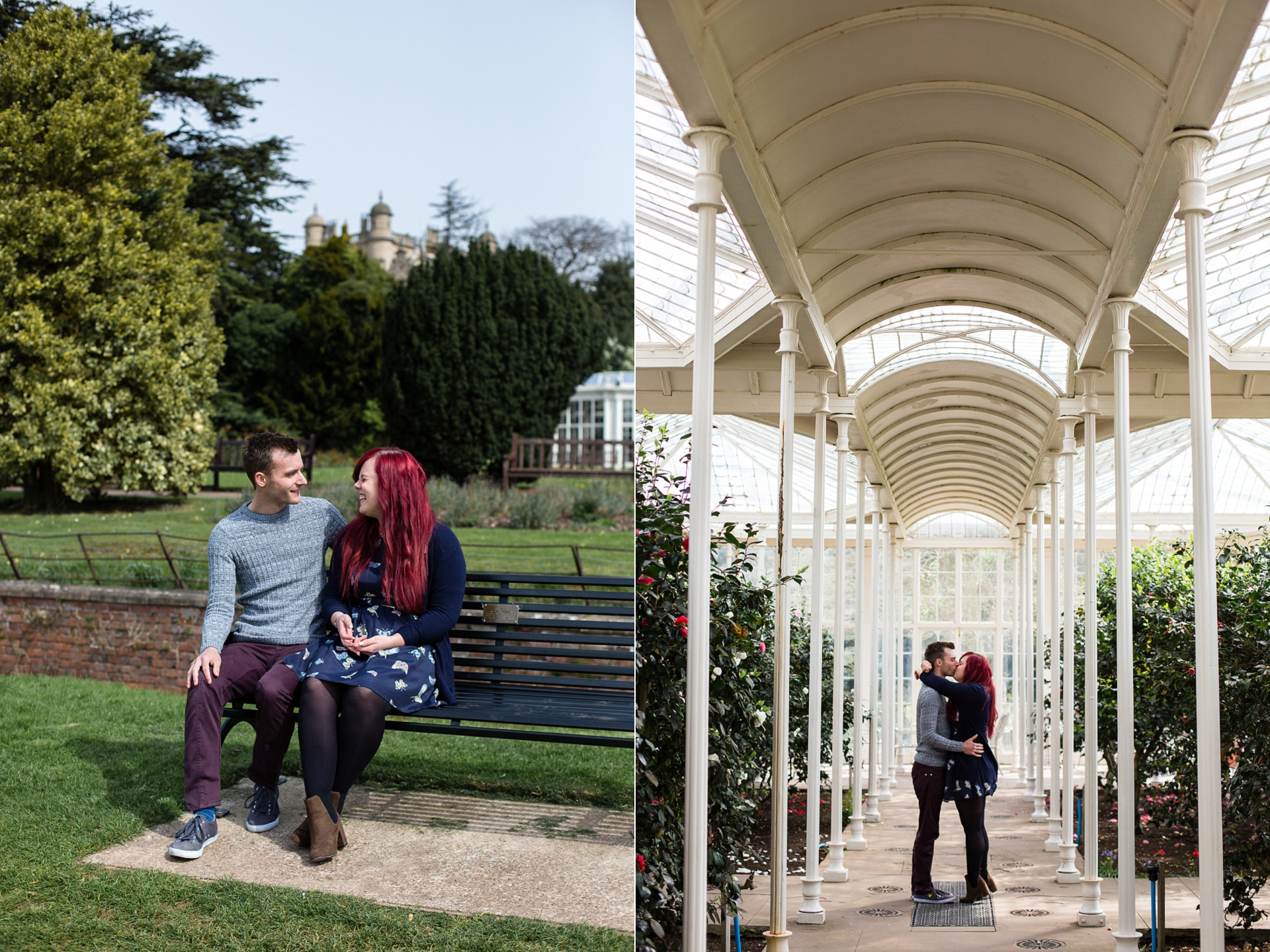 wollaton hall engagement session