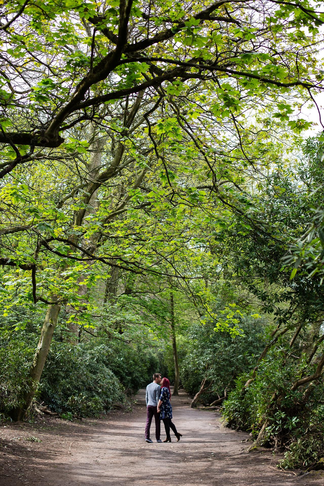 woodland engagement session