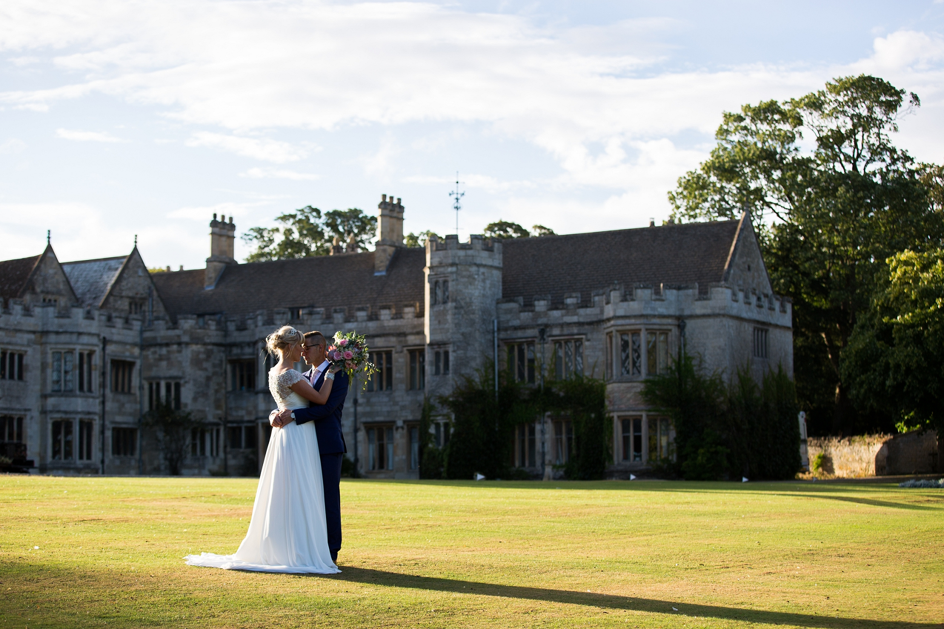 Golden hour at Irnham Hall