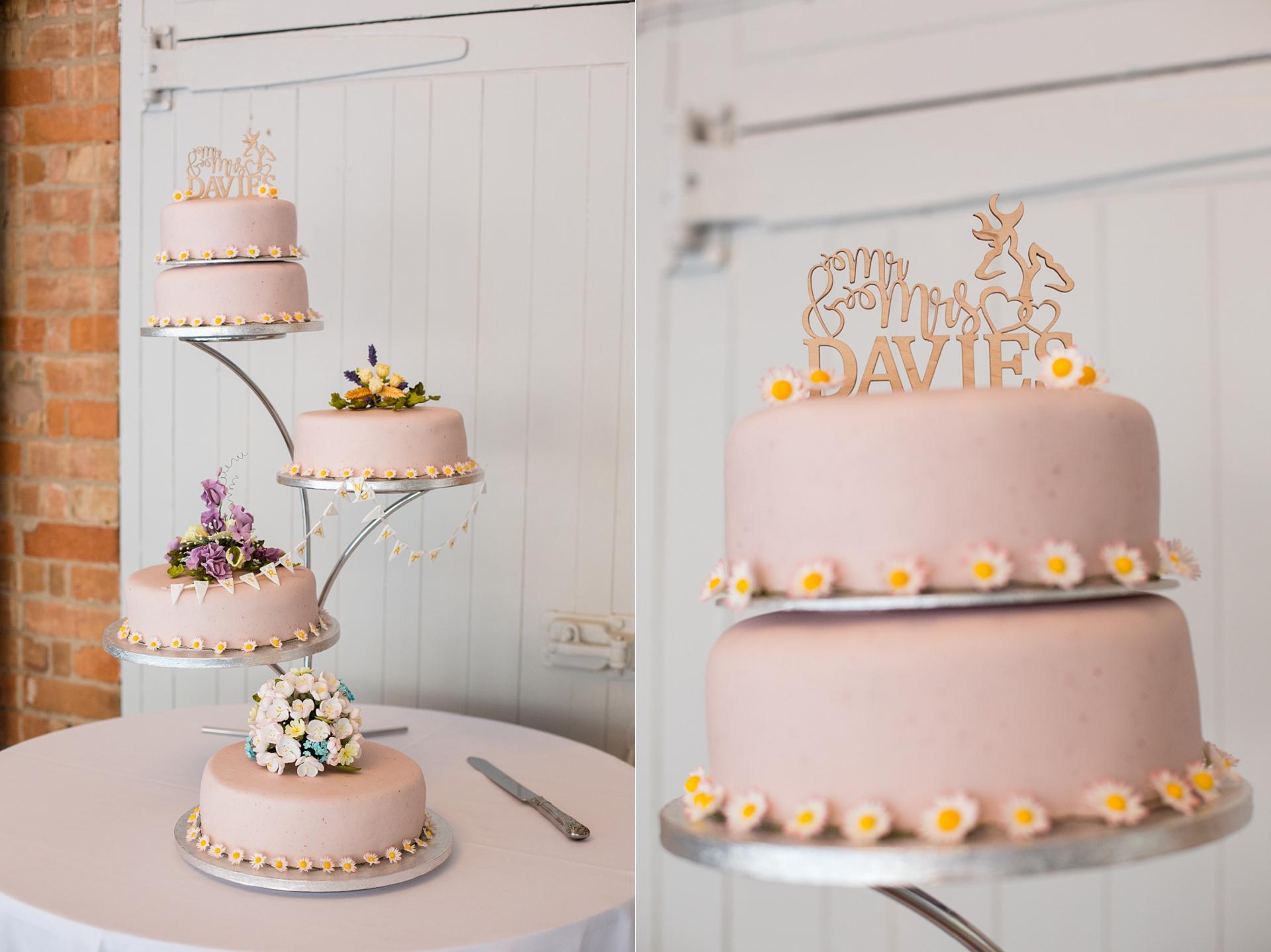 home made wedding cake
