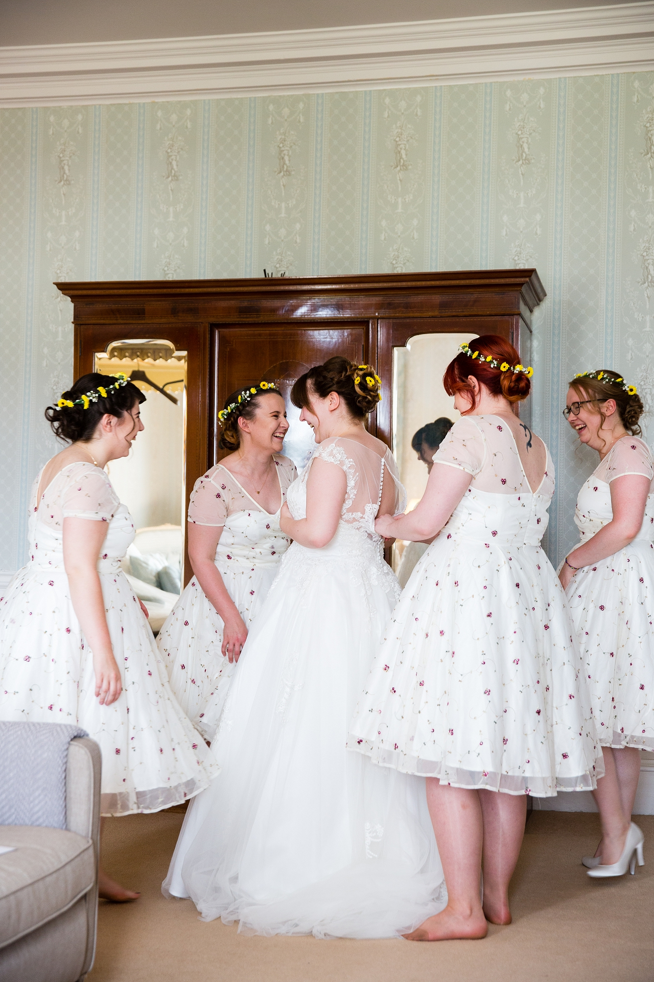 1940's style bridesmaid dresses