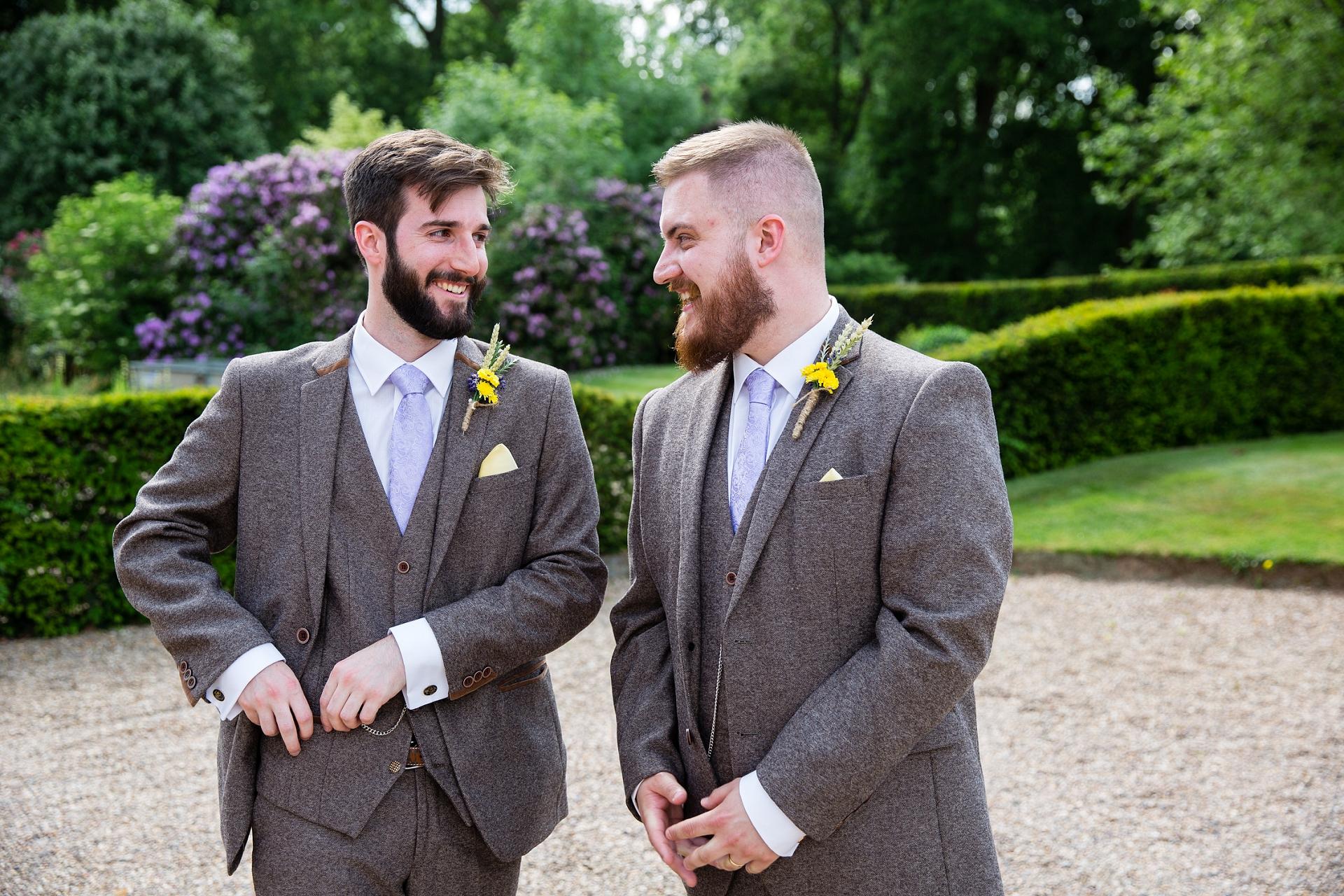 1940's style groom