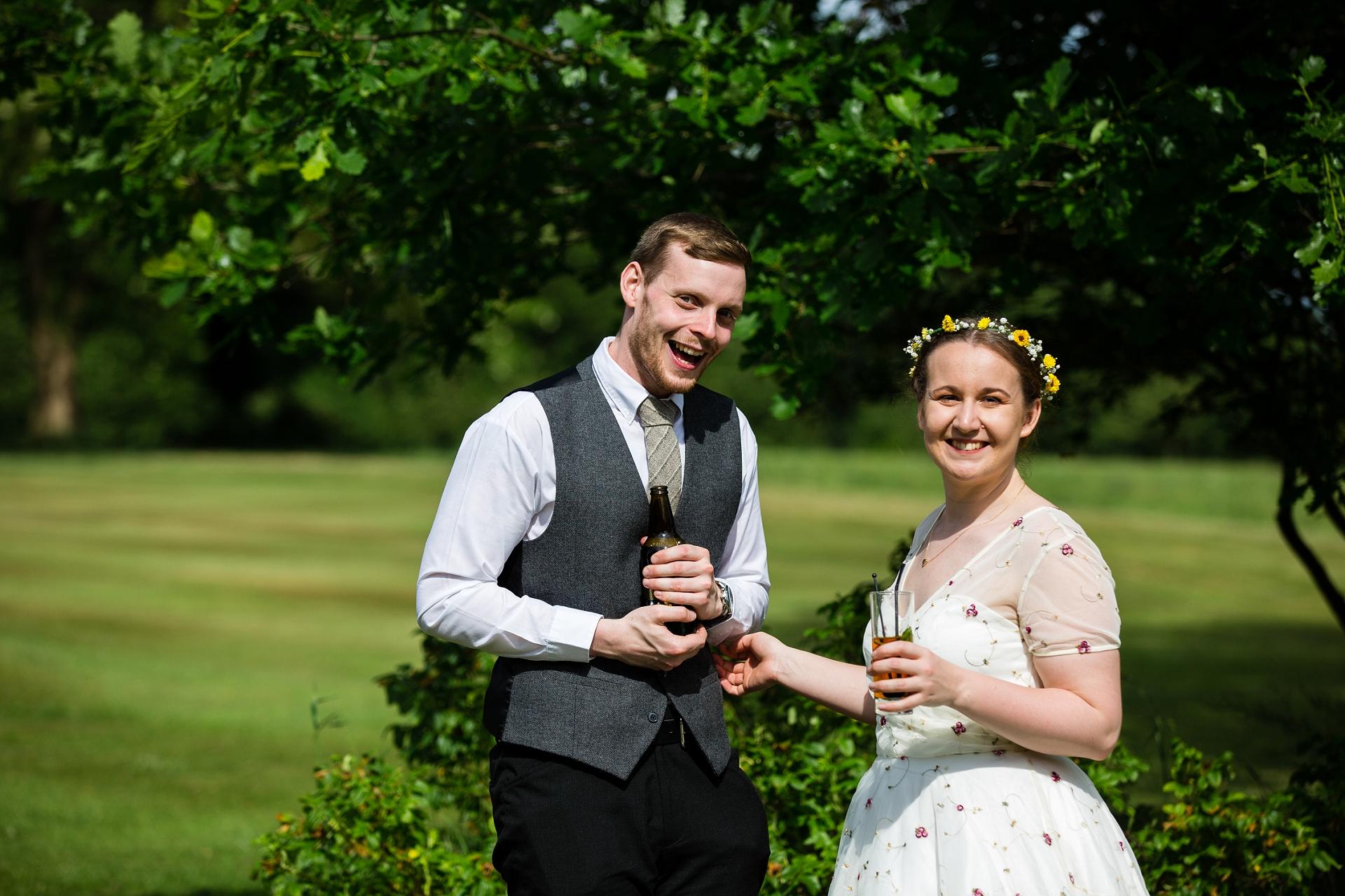 happy wedding faces