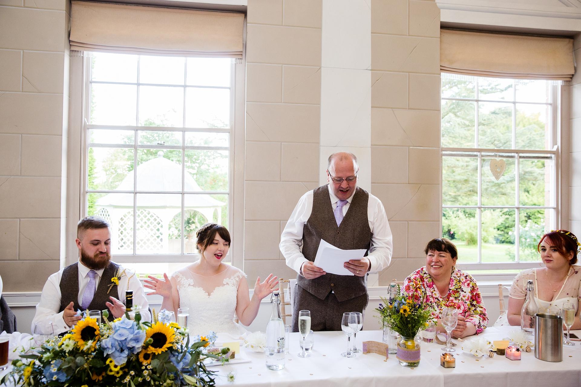 wedding day speaches