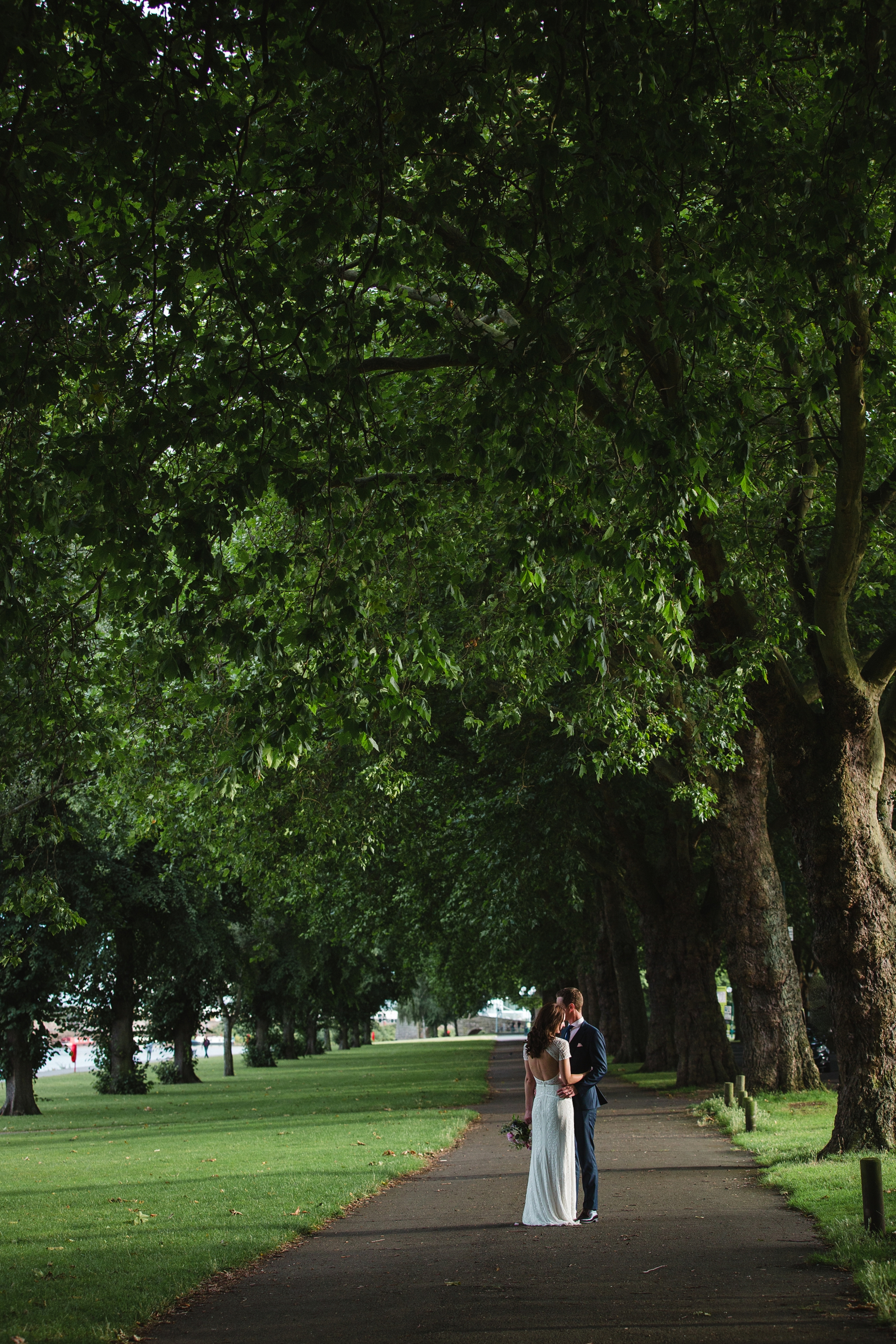 Couple portraits Nottingham Embankment