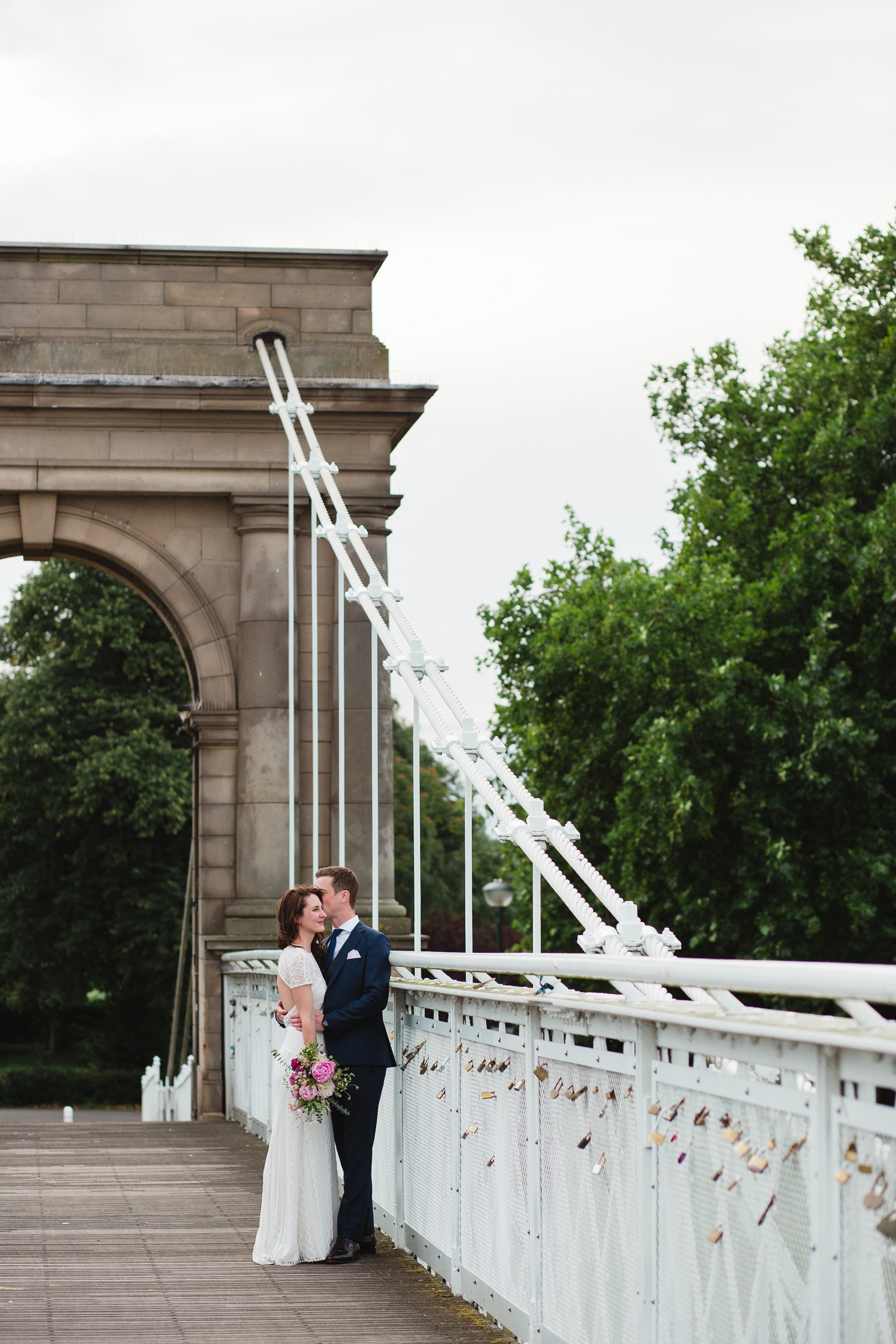Wedding photos Nottingham Trent Embankment