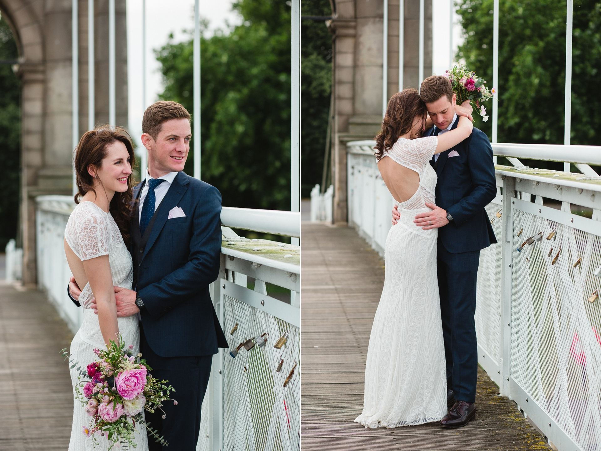 Beautiful wedding photos Trent Embankment