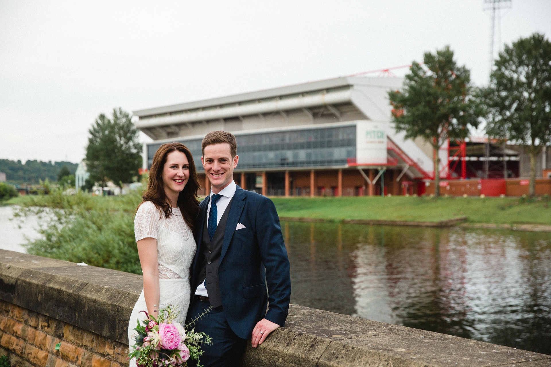 Wedding photographs by the River Trent