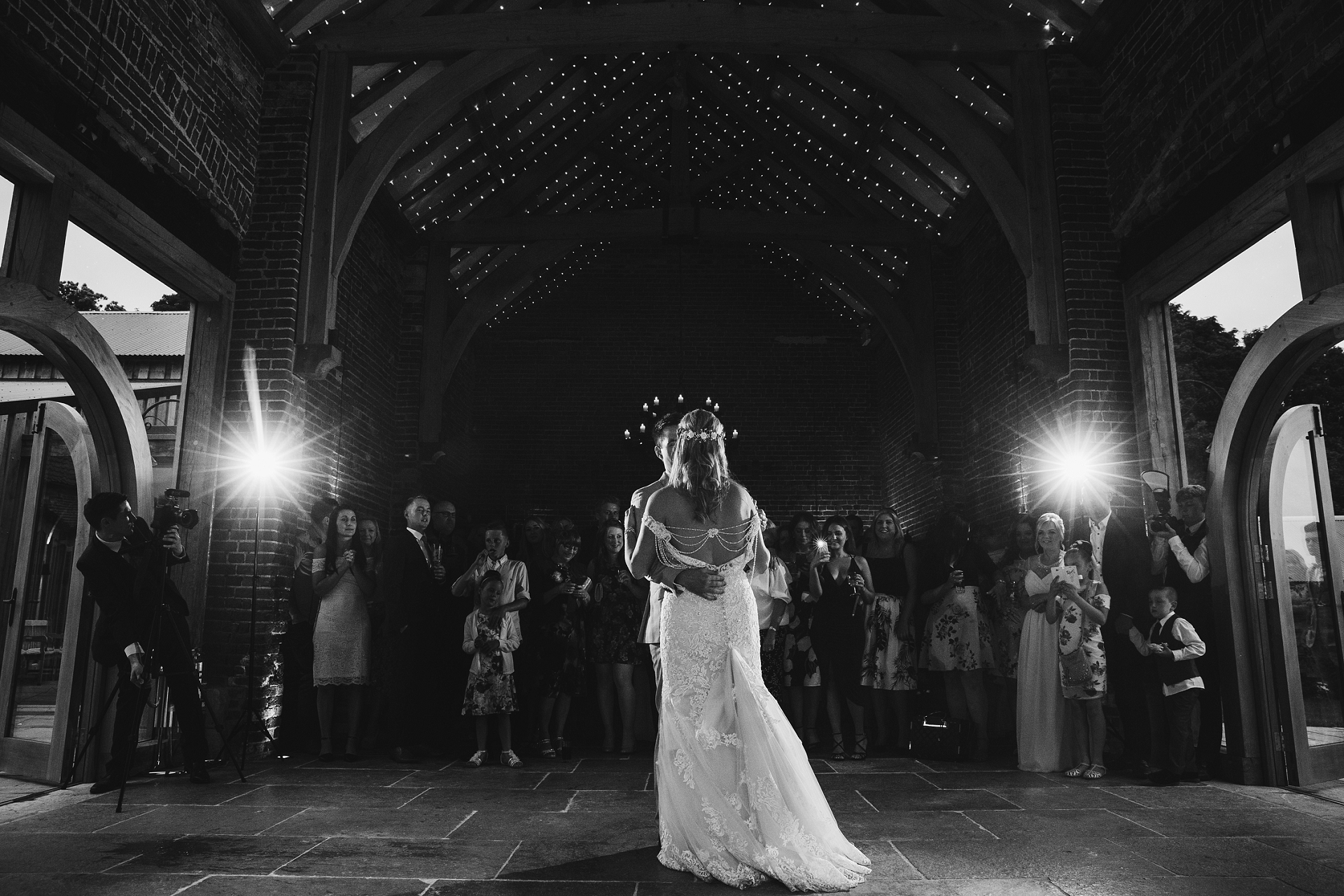 bride and groom first dance at Hazel Gap Barn