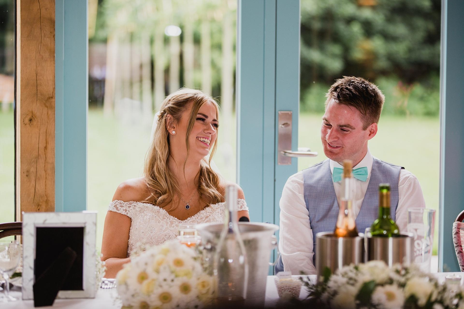 Wedding speaches at Hazel Gap Barn