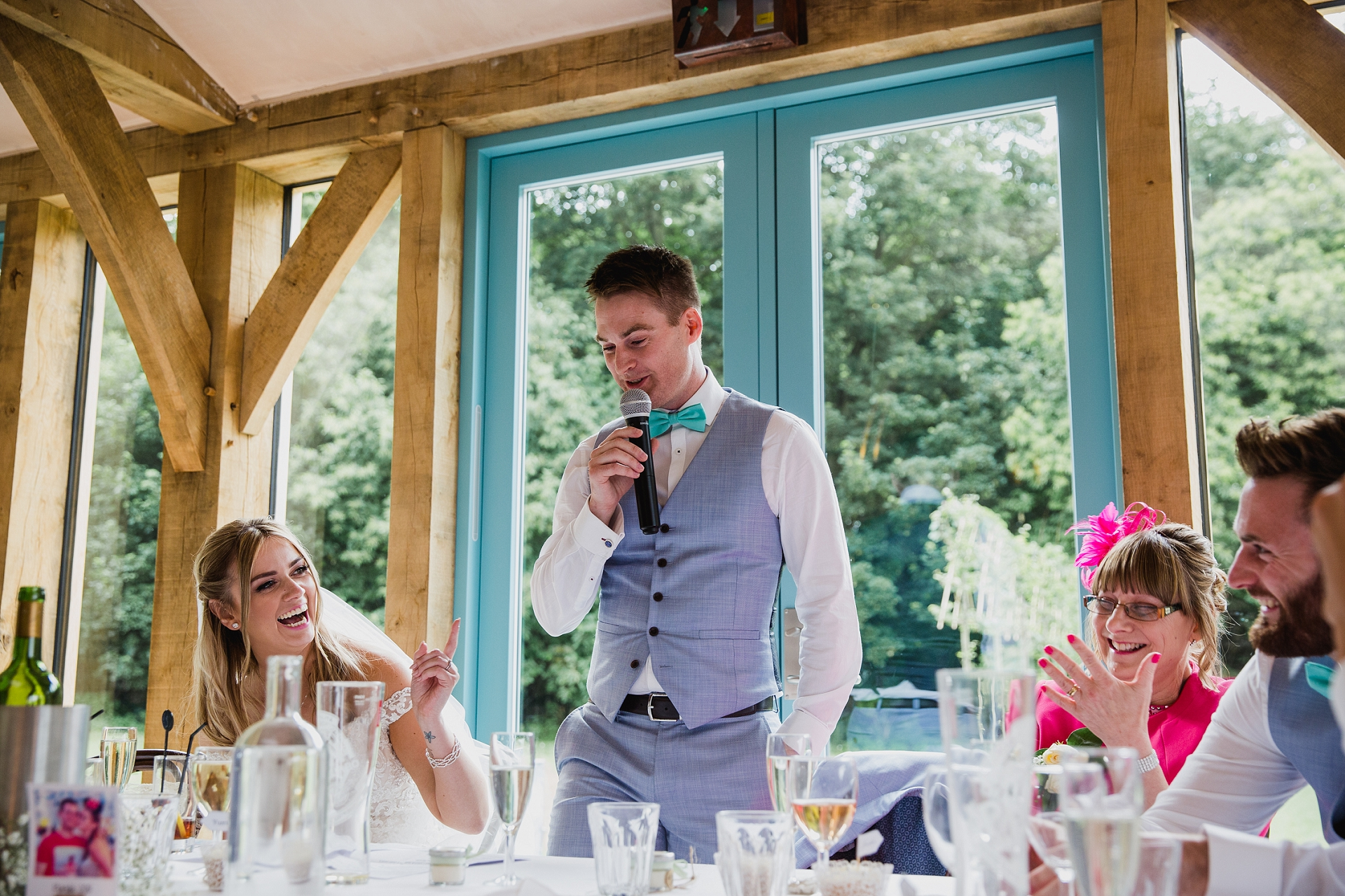 Wedding speaches at Hazel Gap Barn