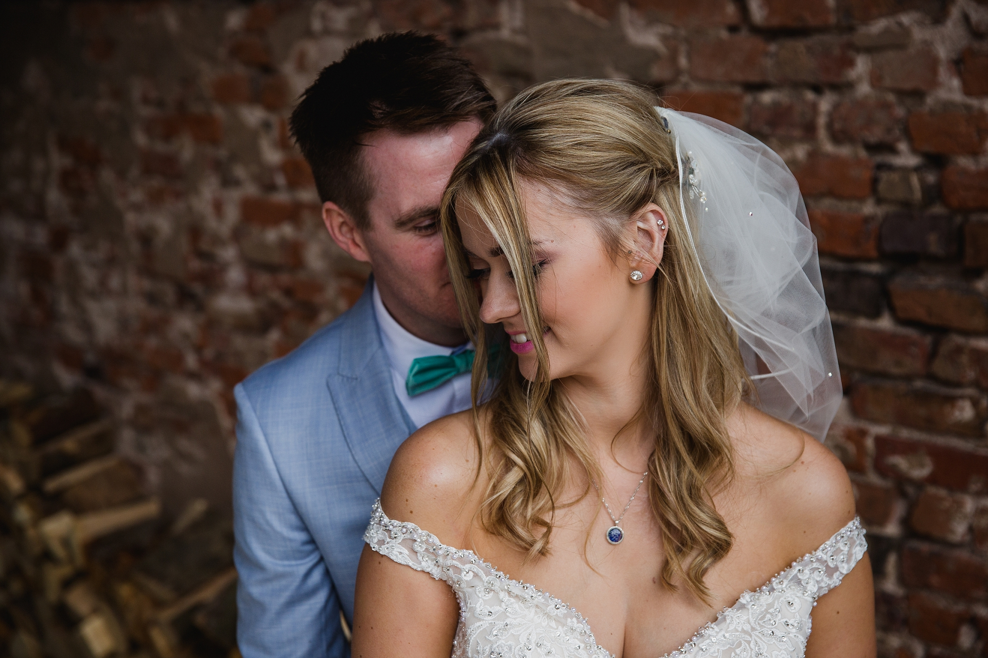 Bride and groom couple portraits at Hazel Gap Barn