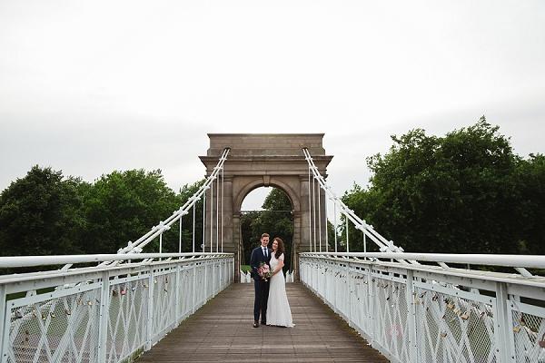 contemporary inner city wedding