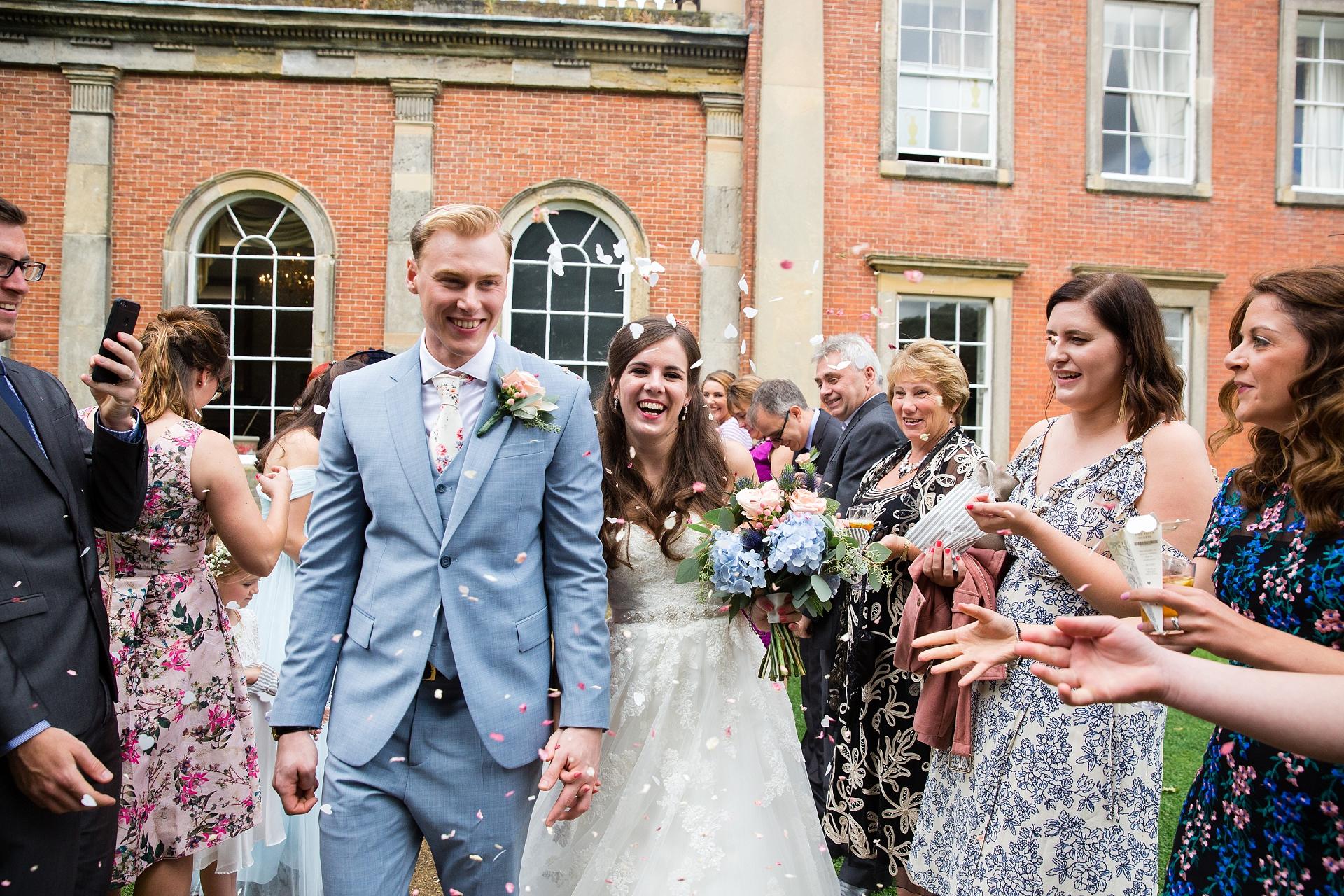 confetti wedding moment