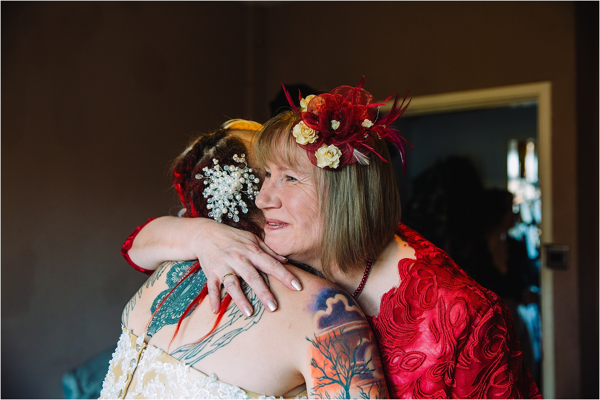 mother of the bride hug