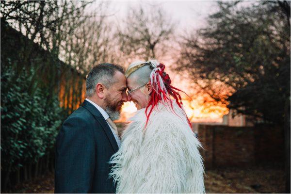 alternative winter wedding Swancar Farm