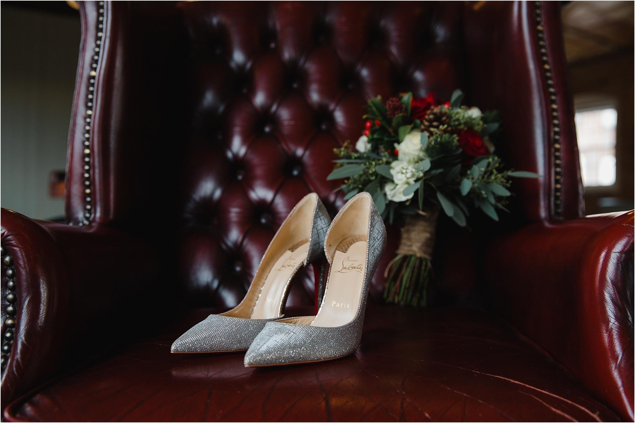 sparkly louboutin wedding shoes