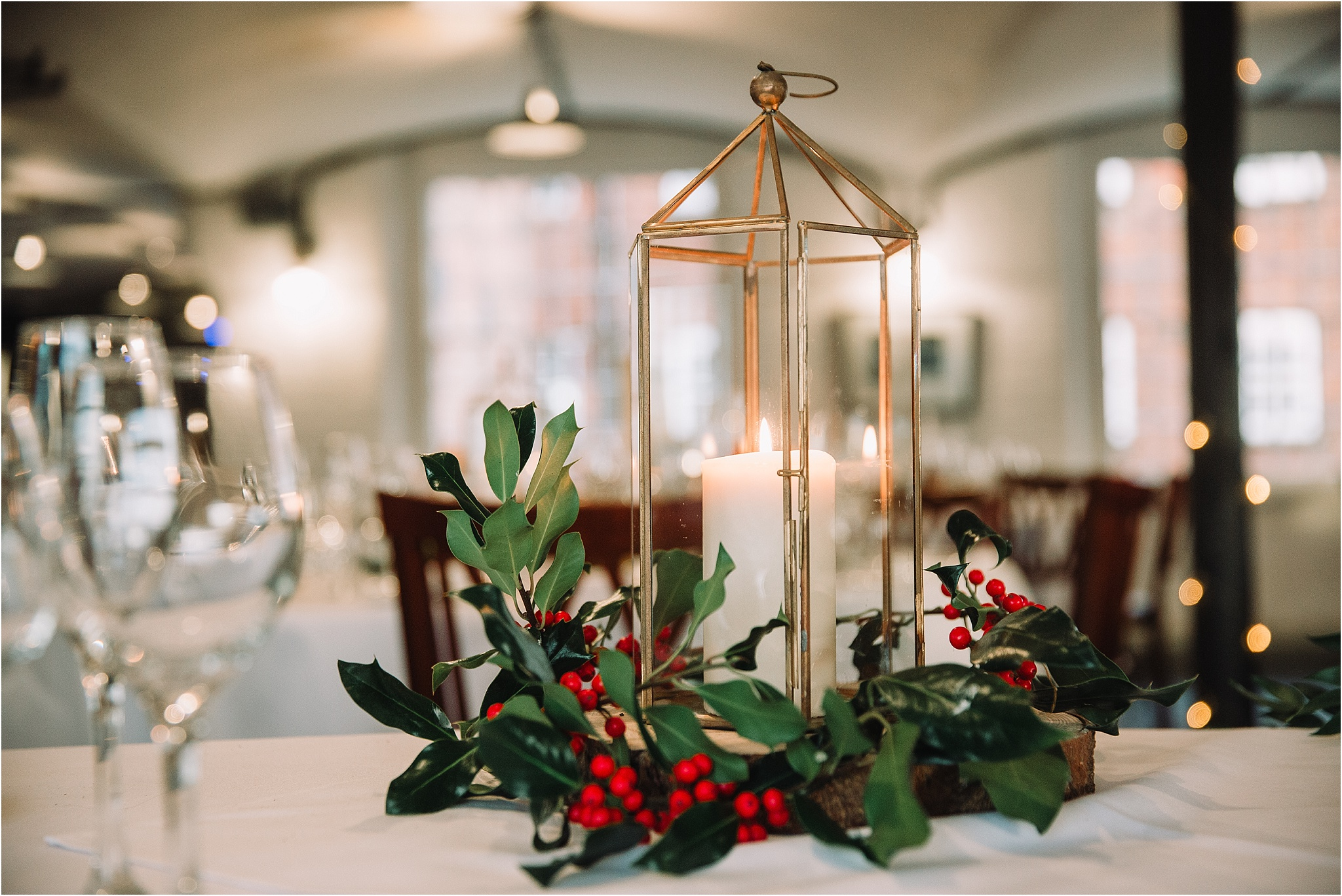 winter wedding decor west mill wedding venue