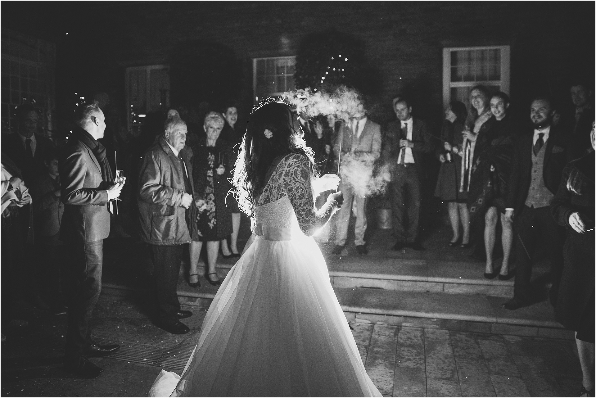 sparklers at The West Mill Derby