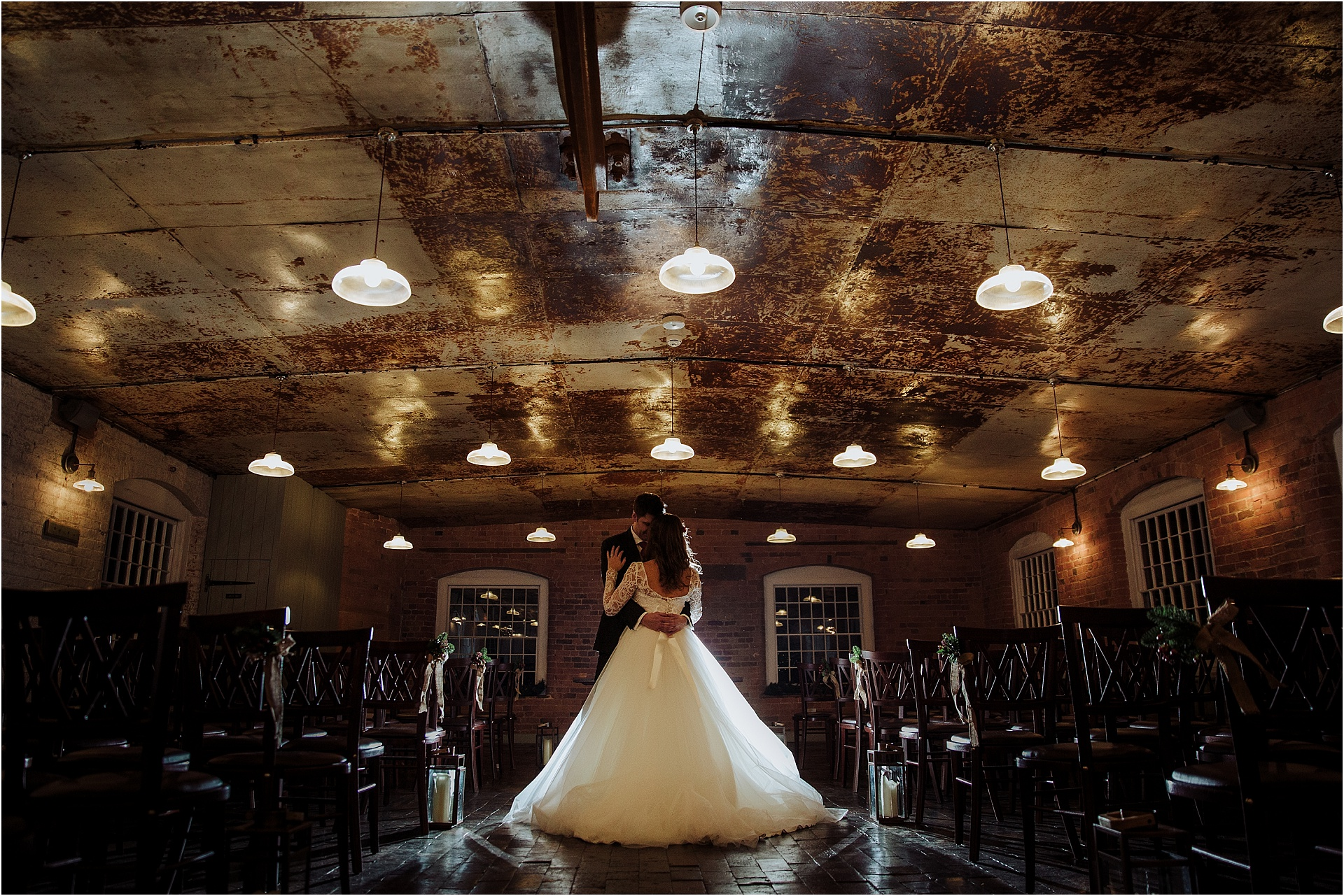 Winter wedding at The West Mill Derby