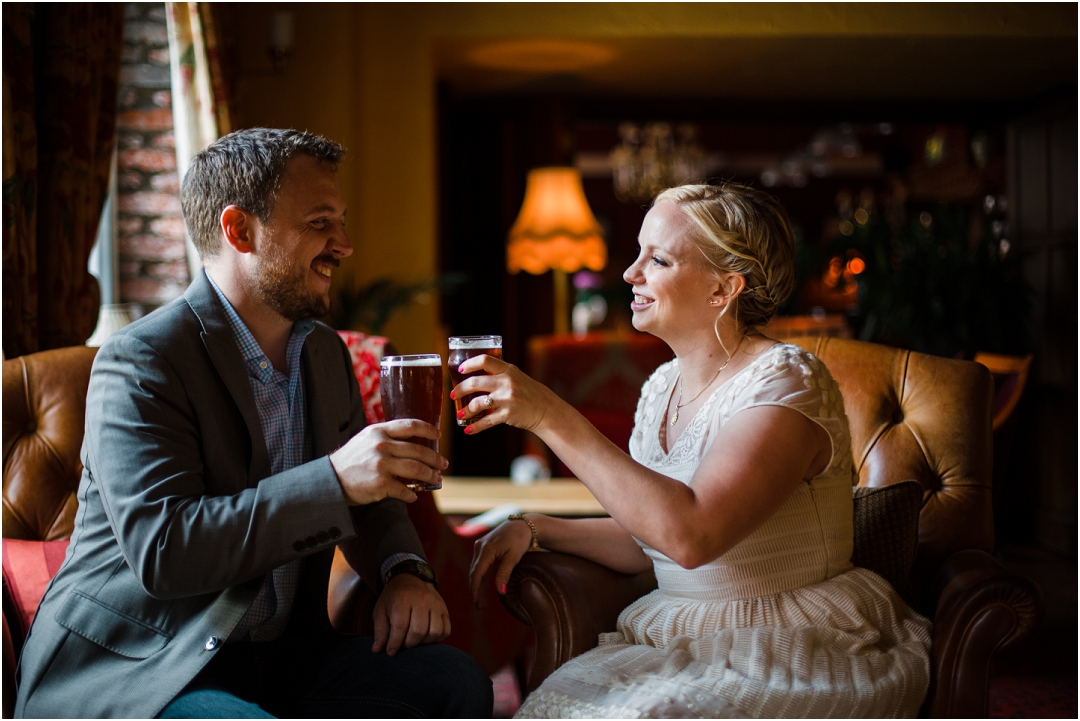 engagement session in a pub