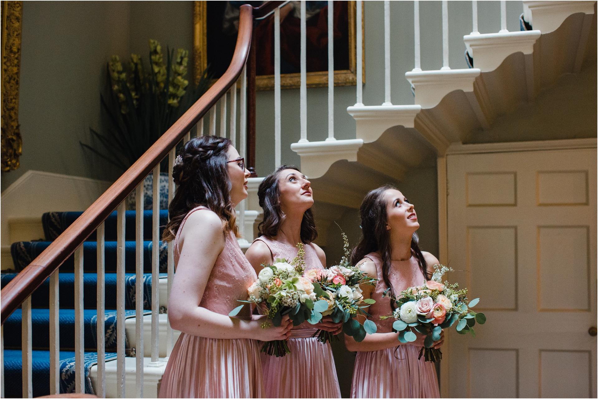 blush bridesmaids at Norwood Park