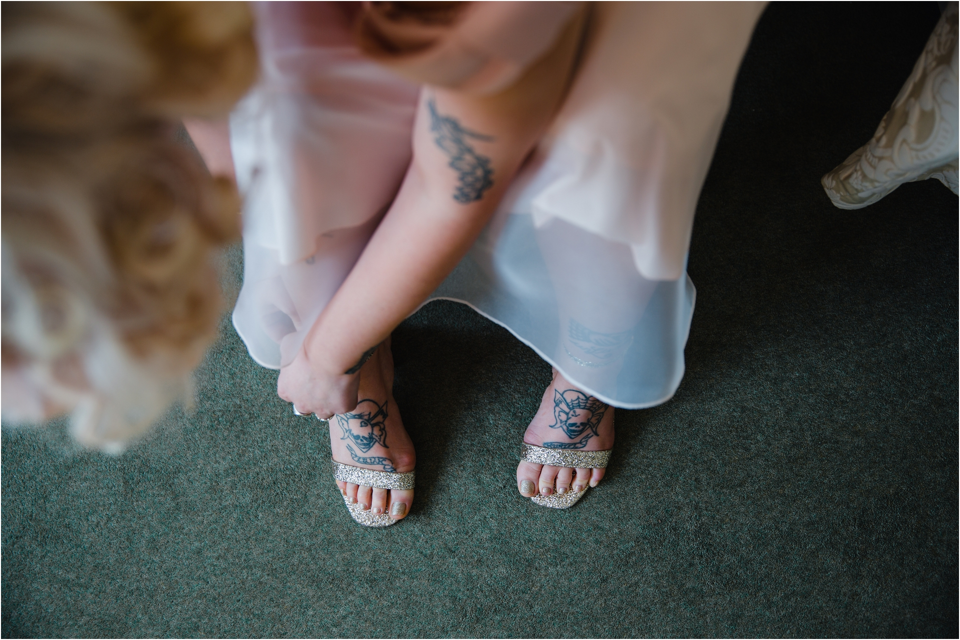 tattooed bridesmaid
