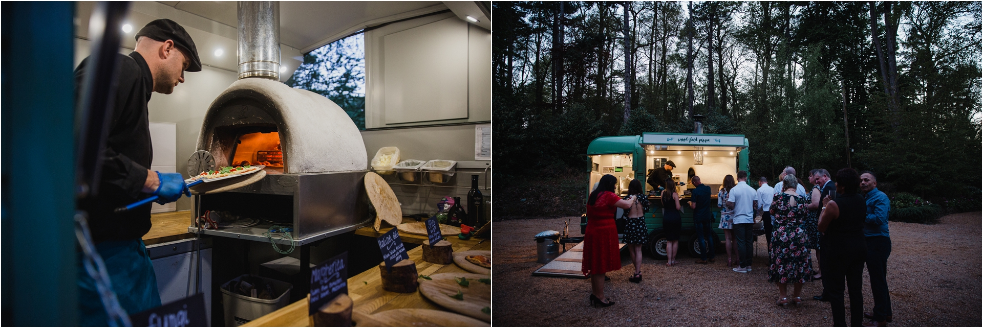 wedding with wood fired pizza van