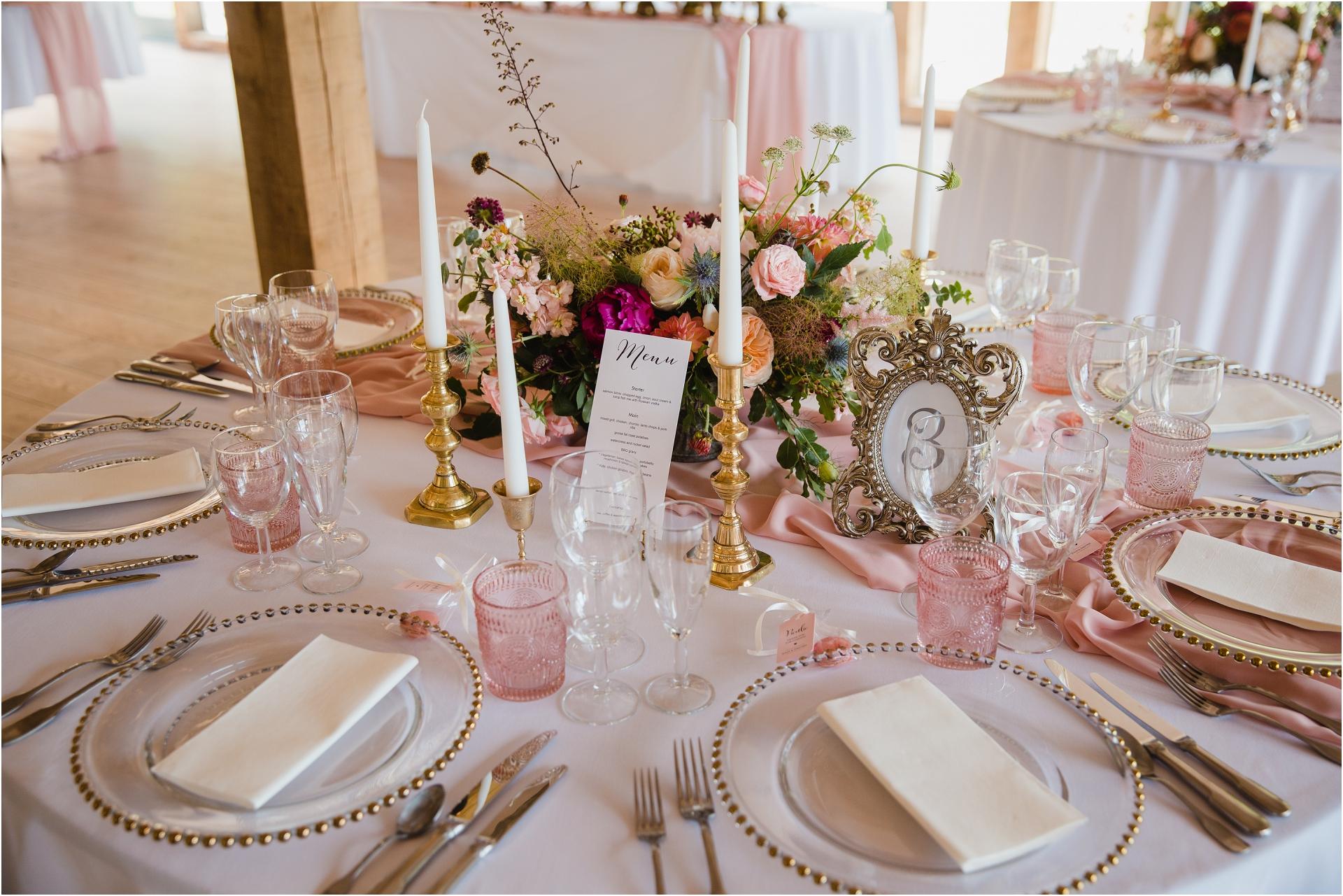 Table centerpiece Hazel Gap Barn Wedding
