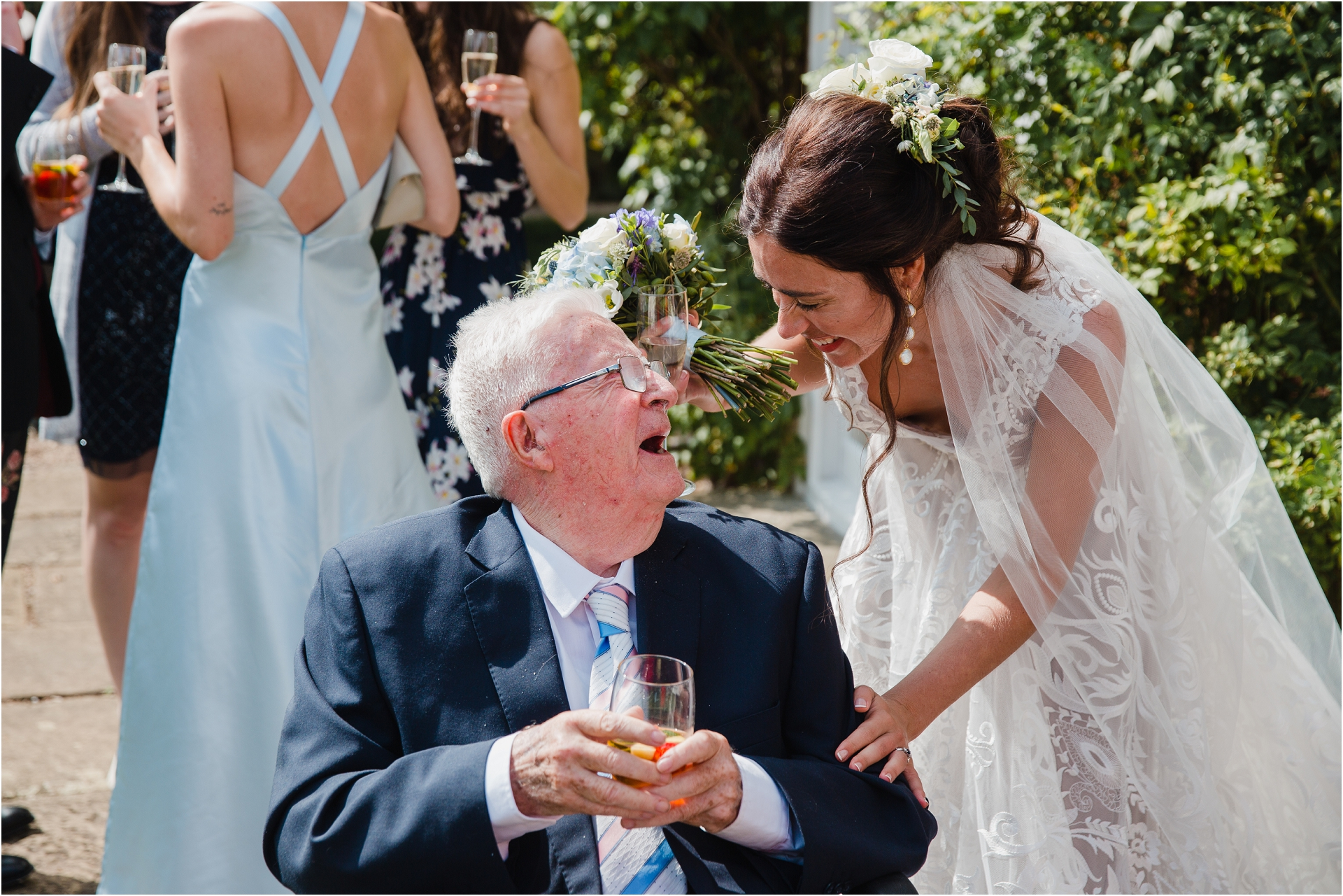 Greek inspired wedding Sutton Bonington Hall