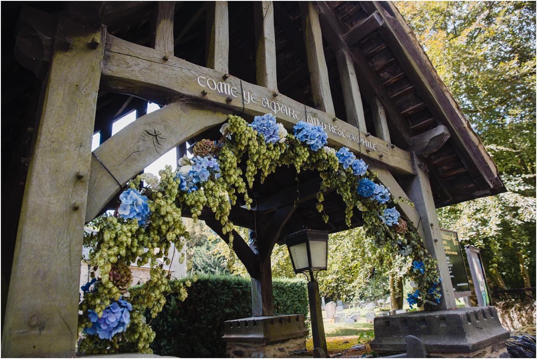 flower arch at church