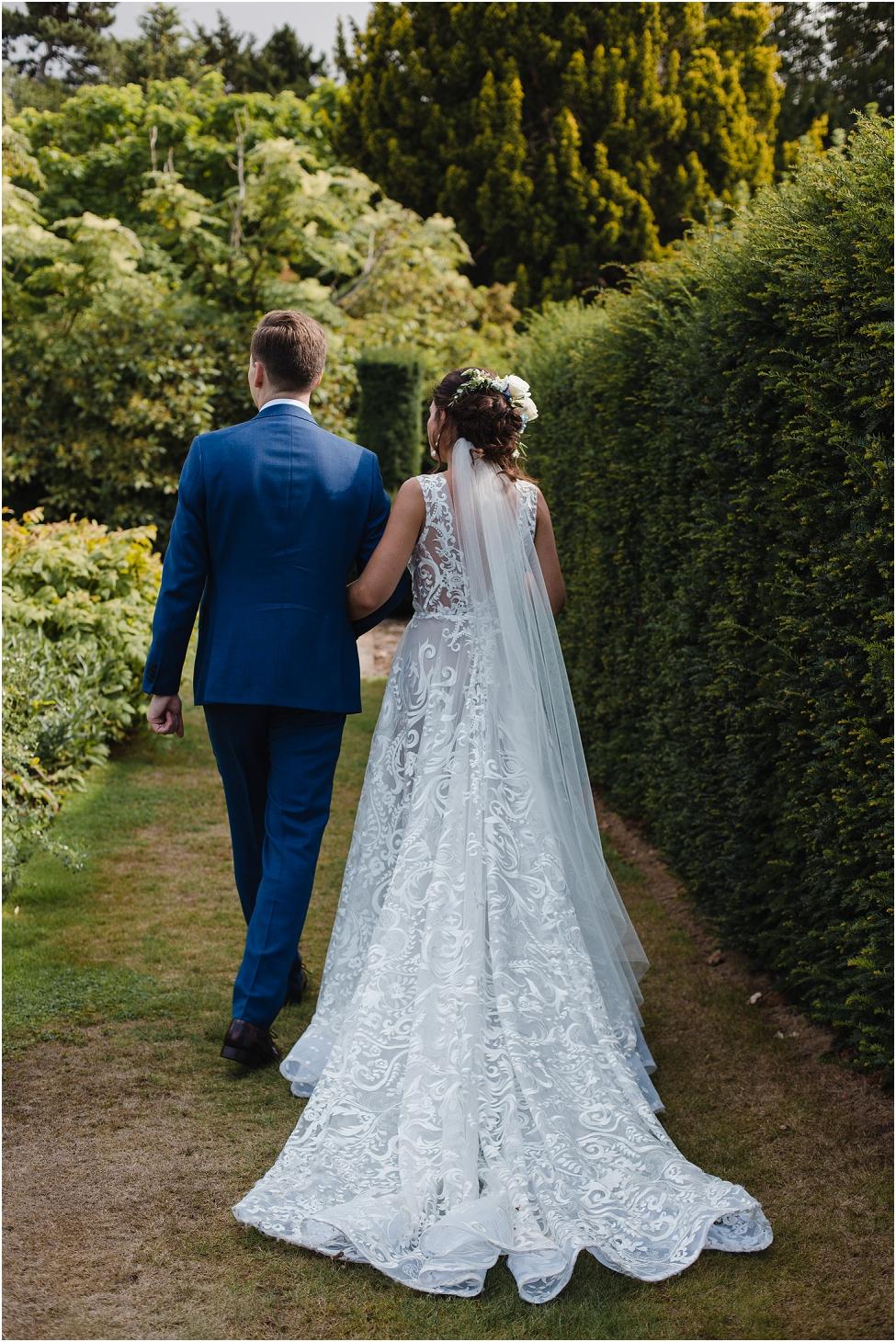 handmade wedding gown Sutton Bonington Hall