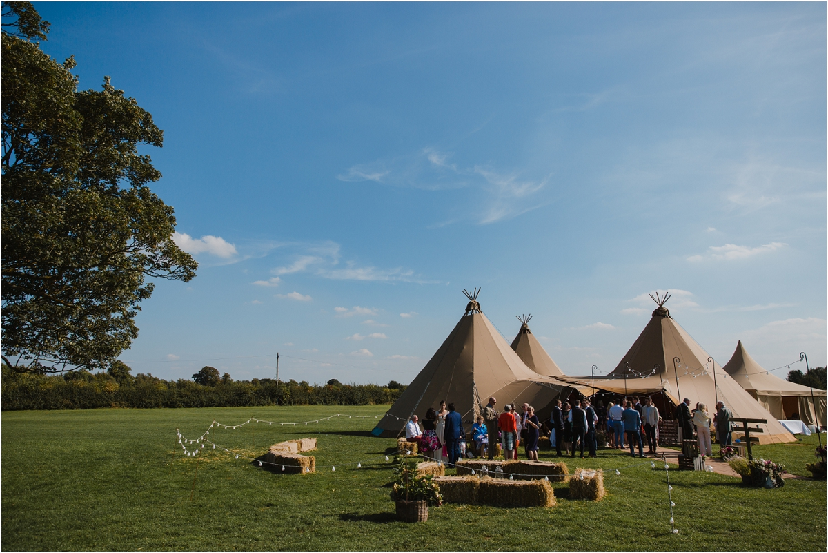 Tipi wedding at Cattows Farm