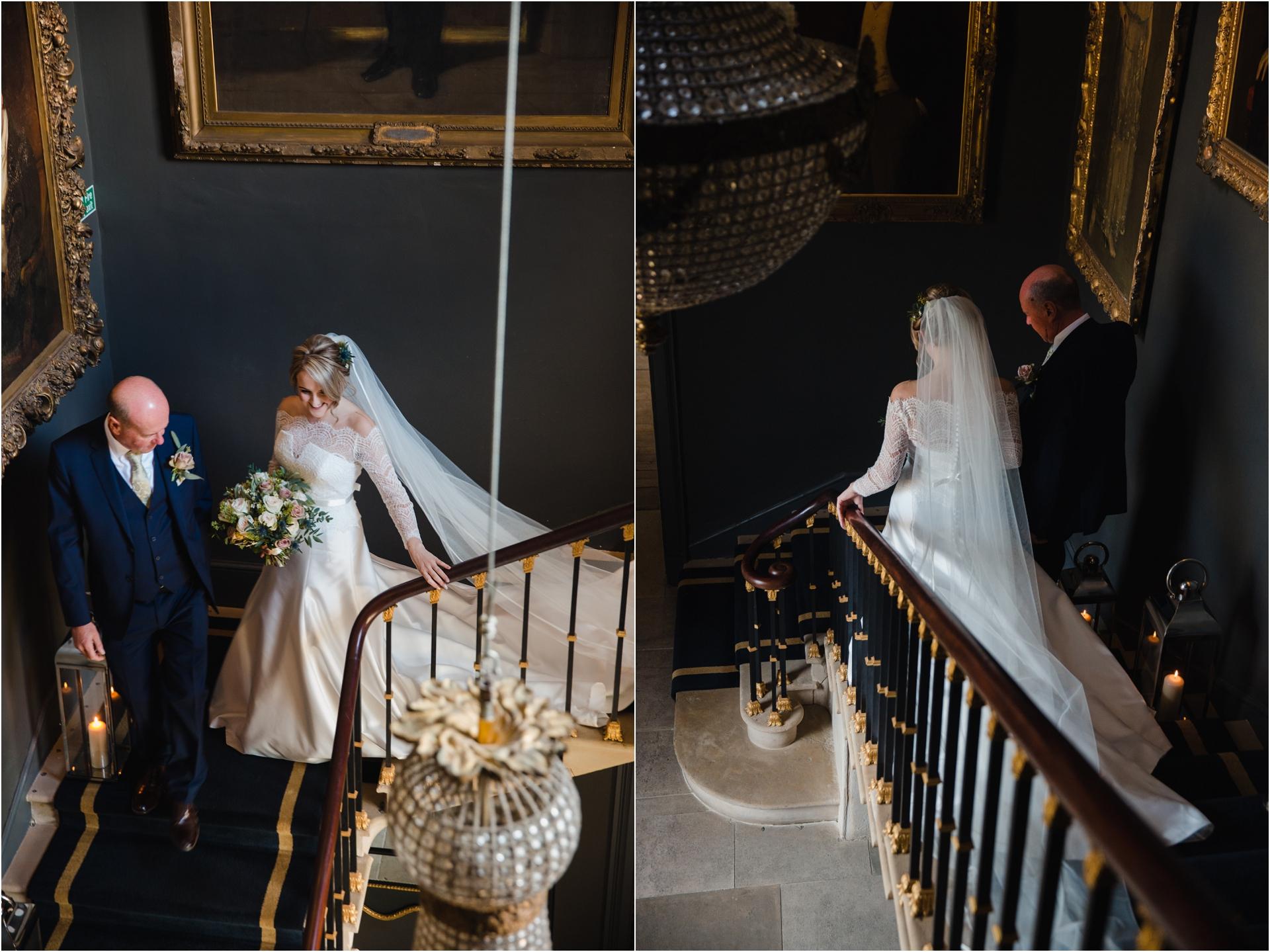 grand staircase at Stubton Hall