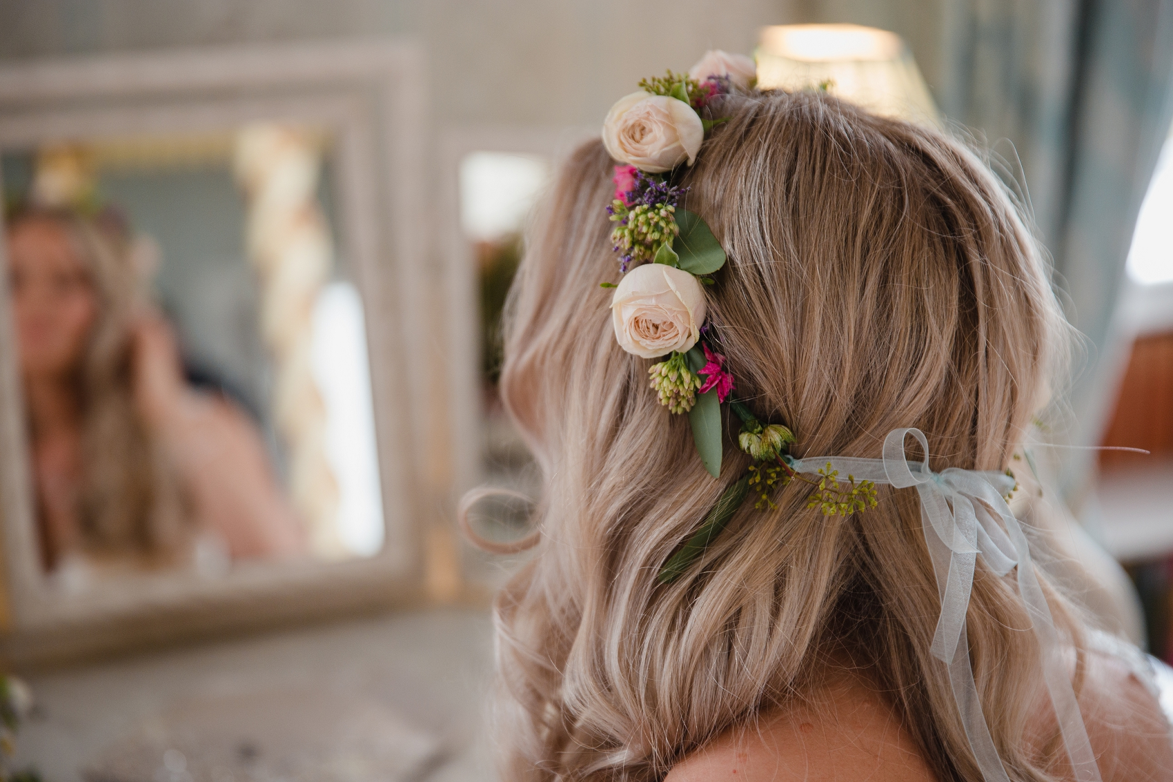 Spring wedding style flower crown