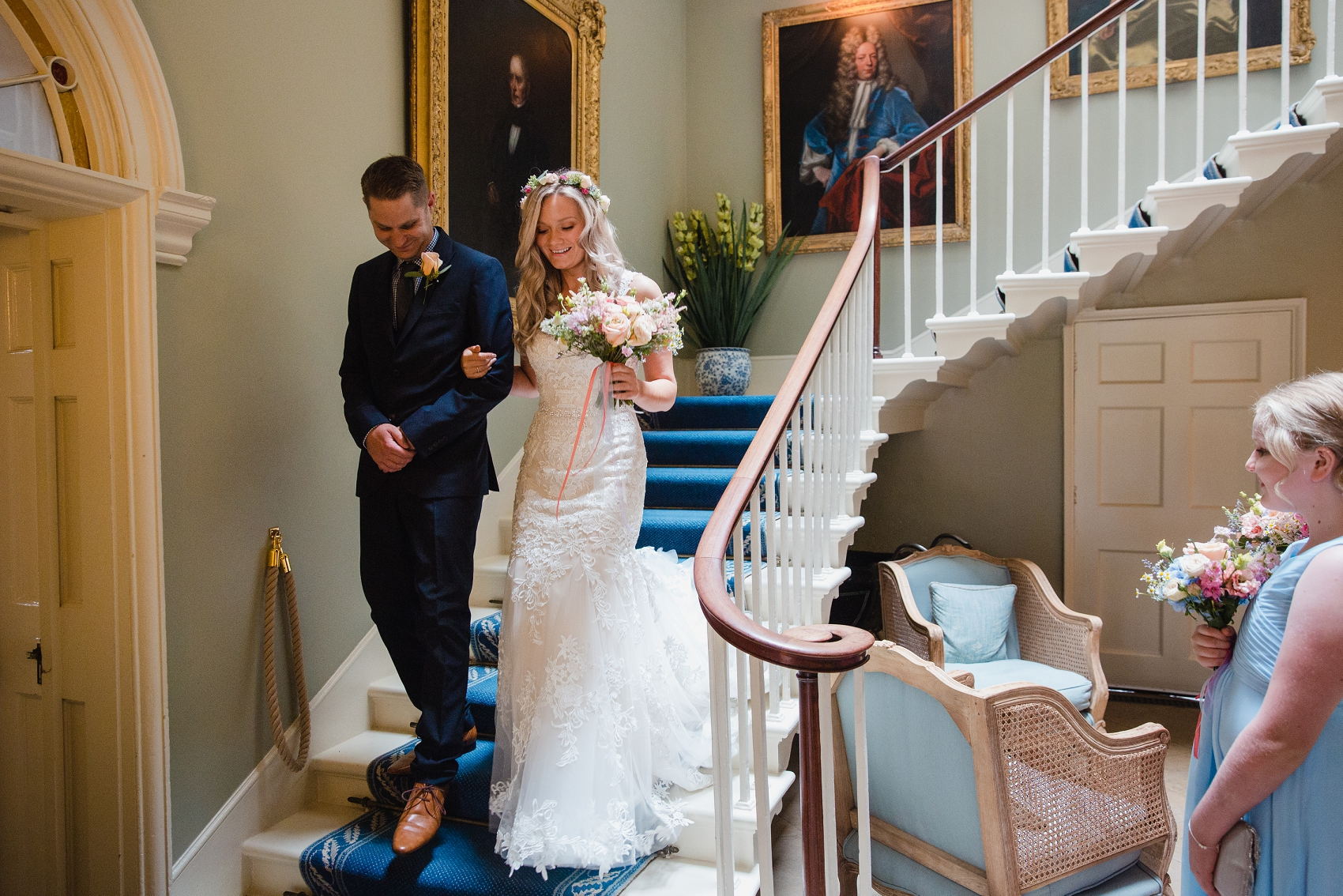 Staircase at Norwood Park wedding venue