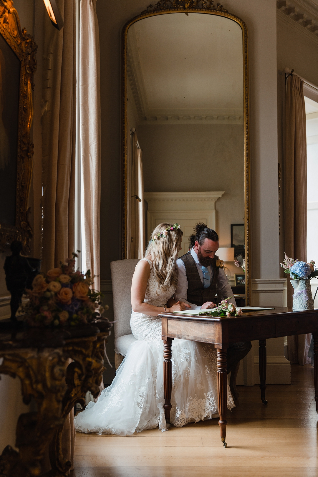 Signing the register Norwood Park wedding