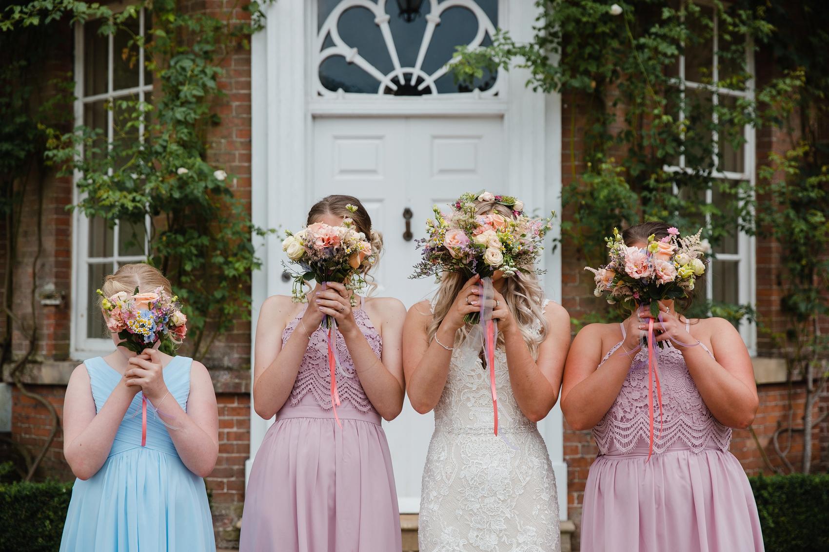 Spring bridesmaids at Norwood Park