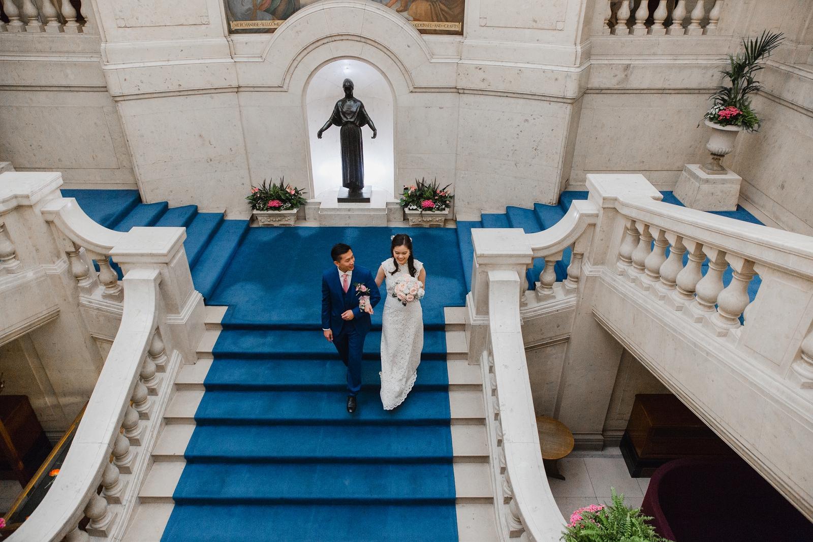 Intimate Nottingham city centre wedding