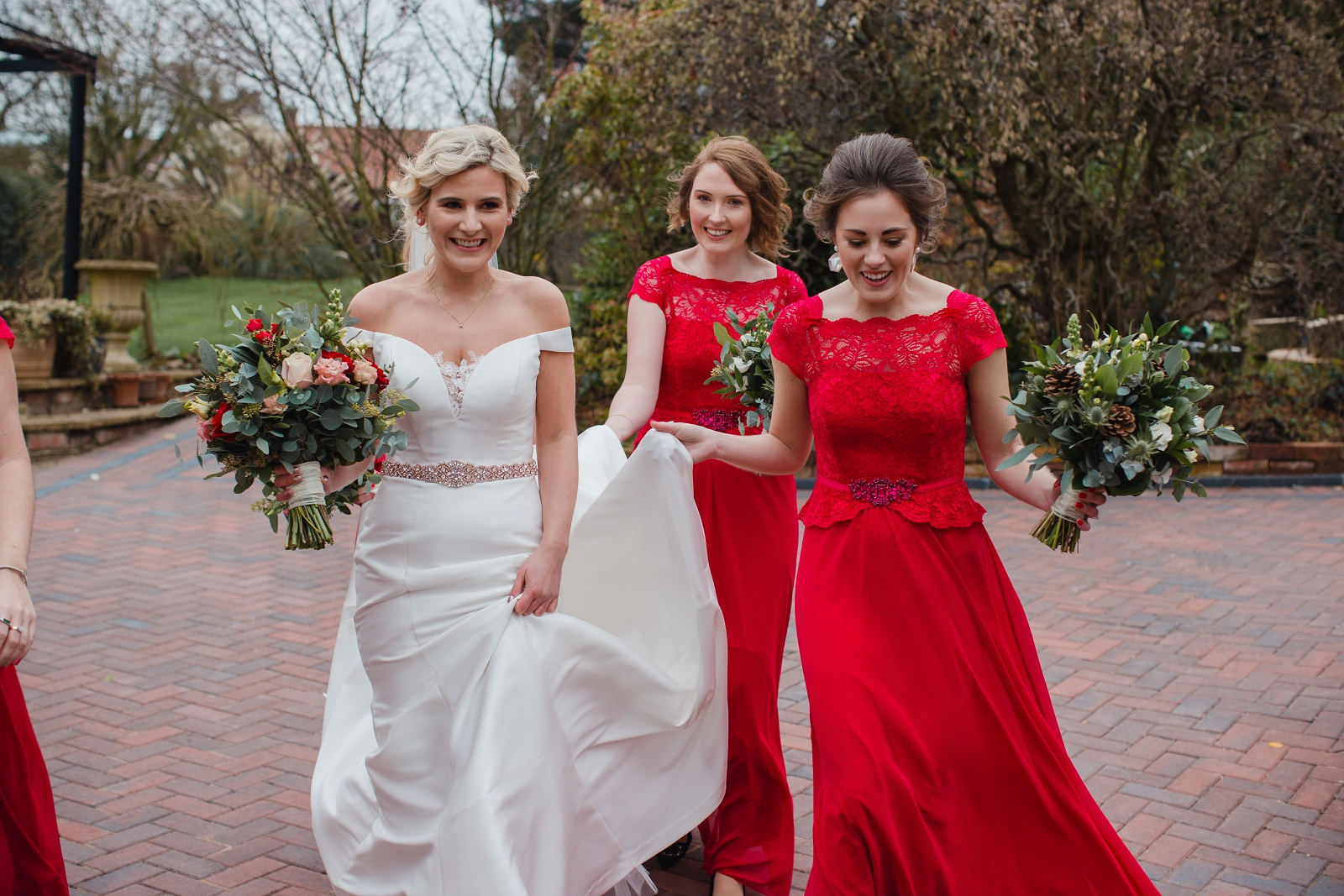 winter wedding bridal style