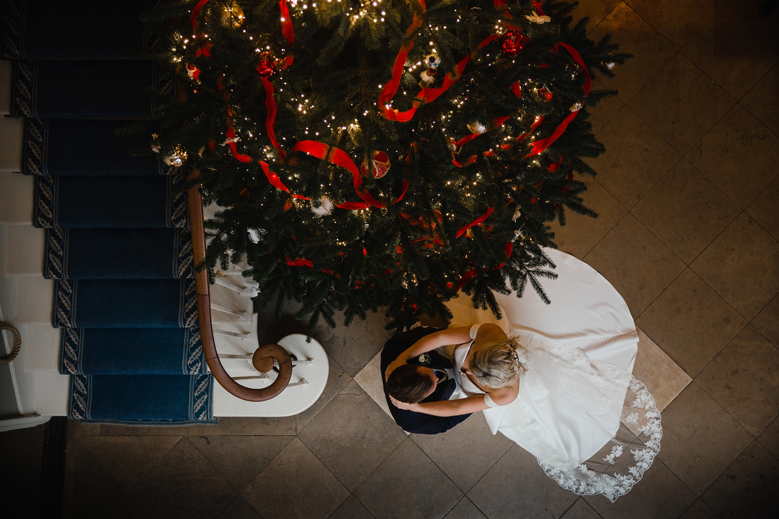 wedding photography norwood park in winter