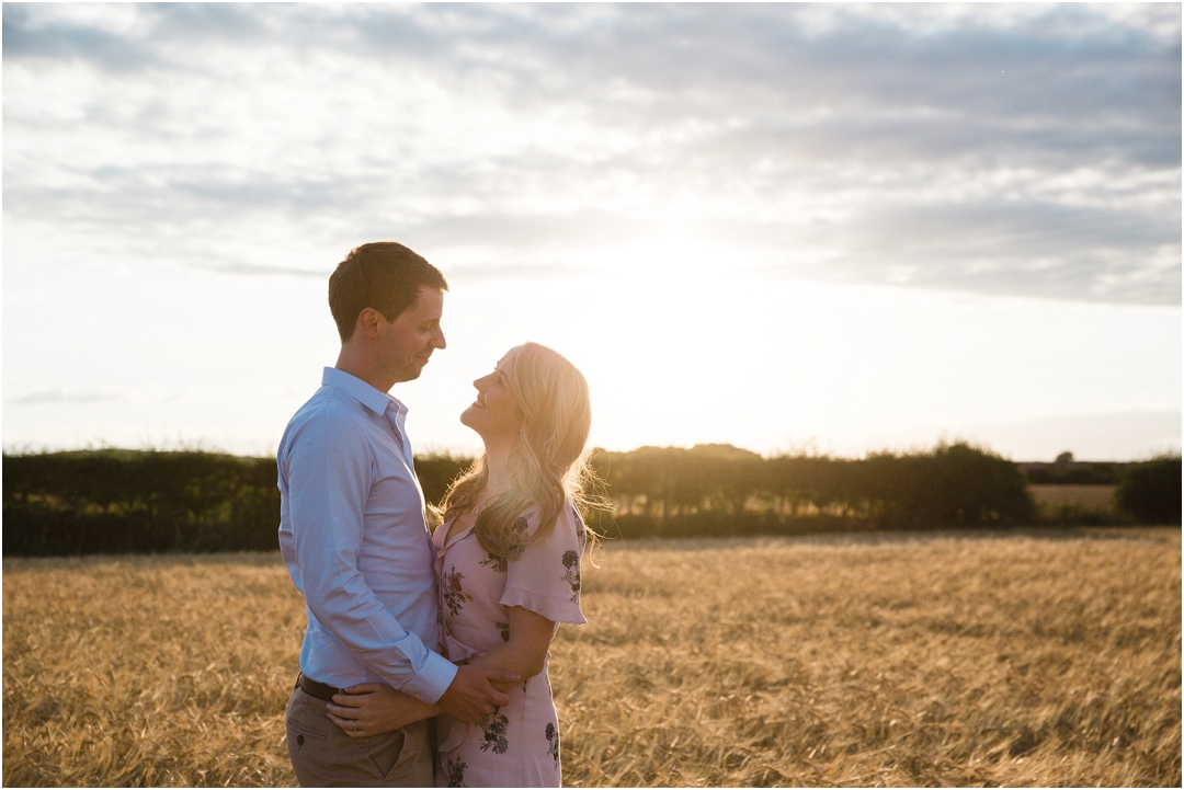 Sun set engagement shoot