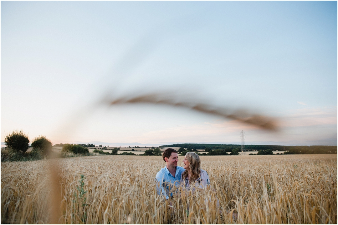 Couple photo in a corn field