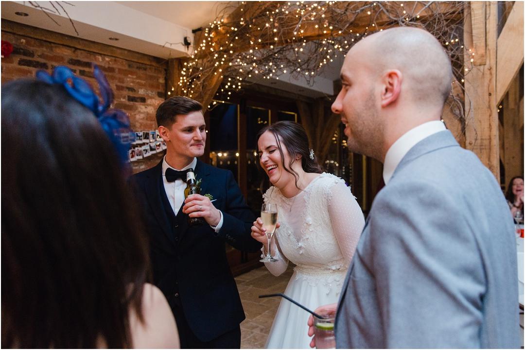 Evening wedding reception at Swancar Farm