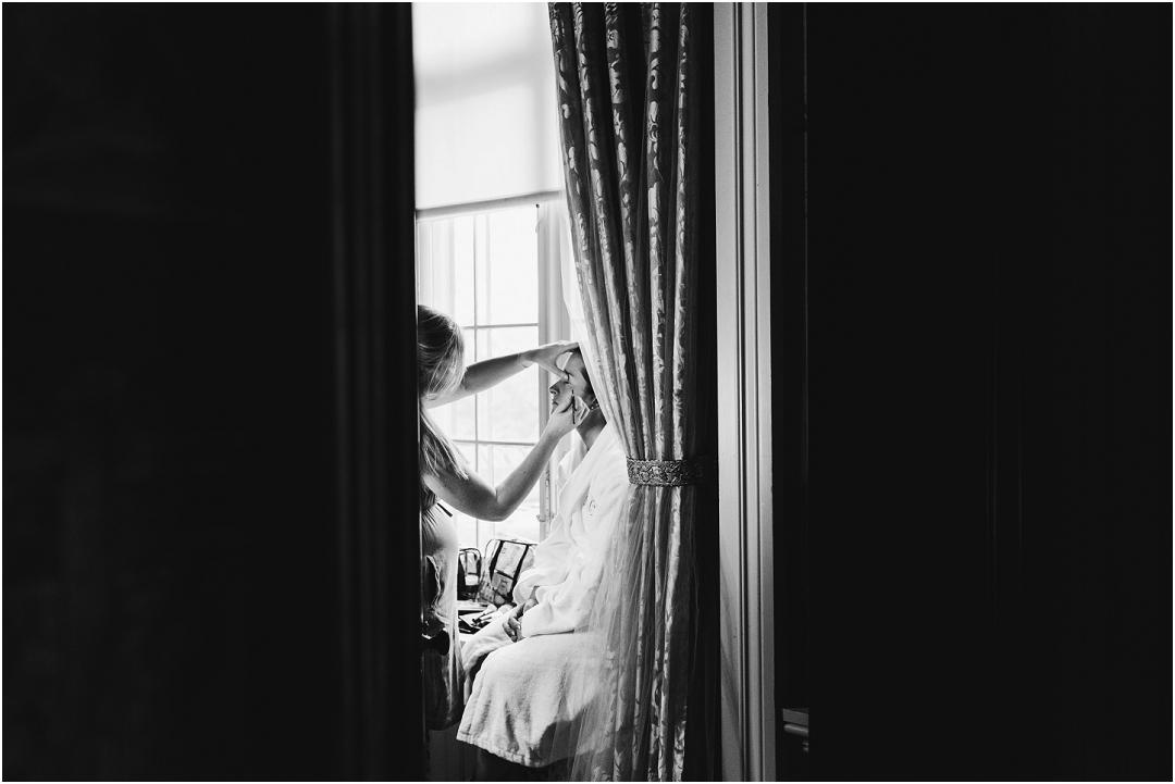 Bridal preparations Belvoir Castle