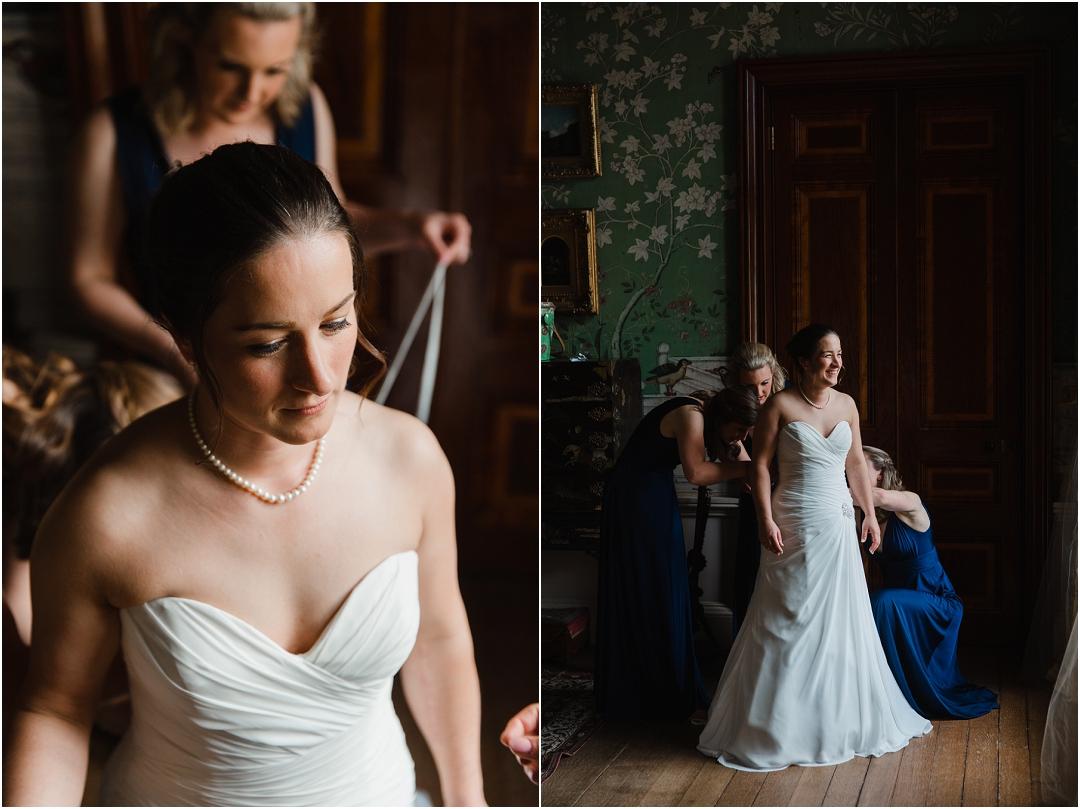 Bride in window at Belvoir Castle