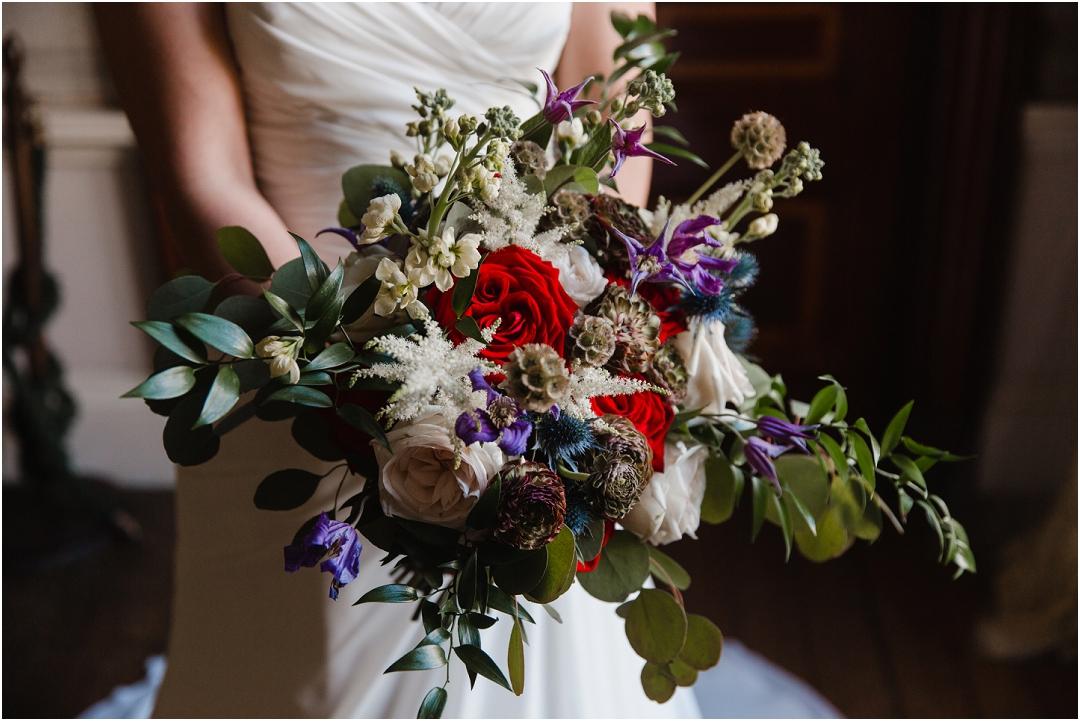 Military wedding bridal bouquet