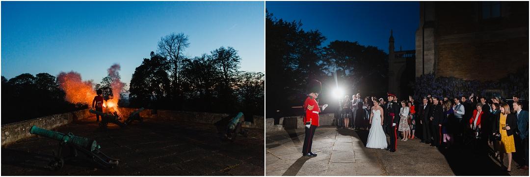 Cannon salute Belvoir Castle